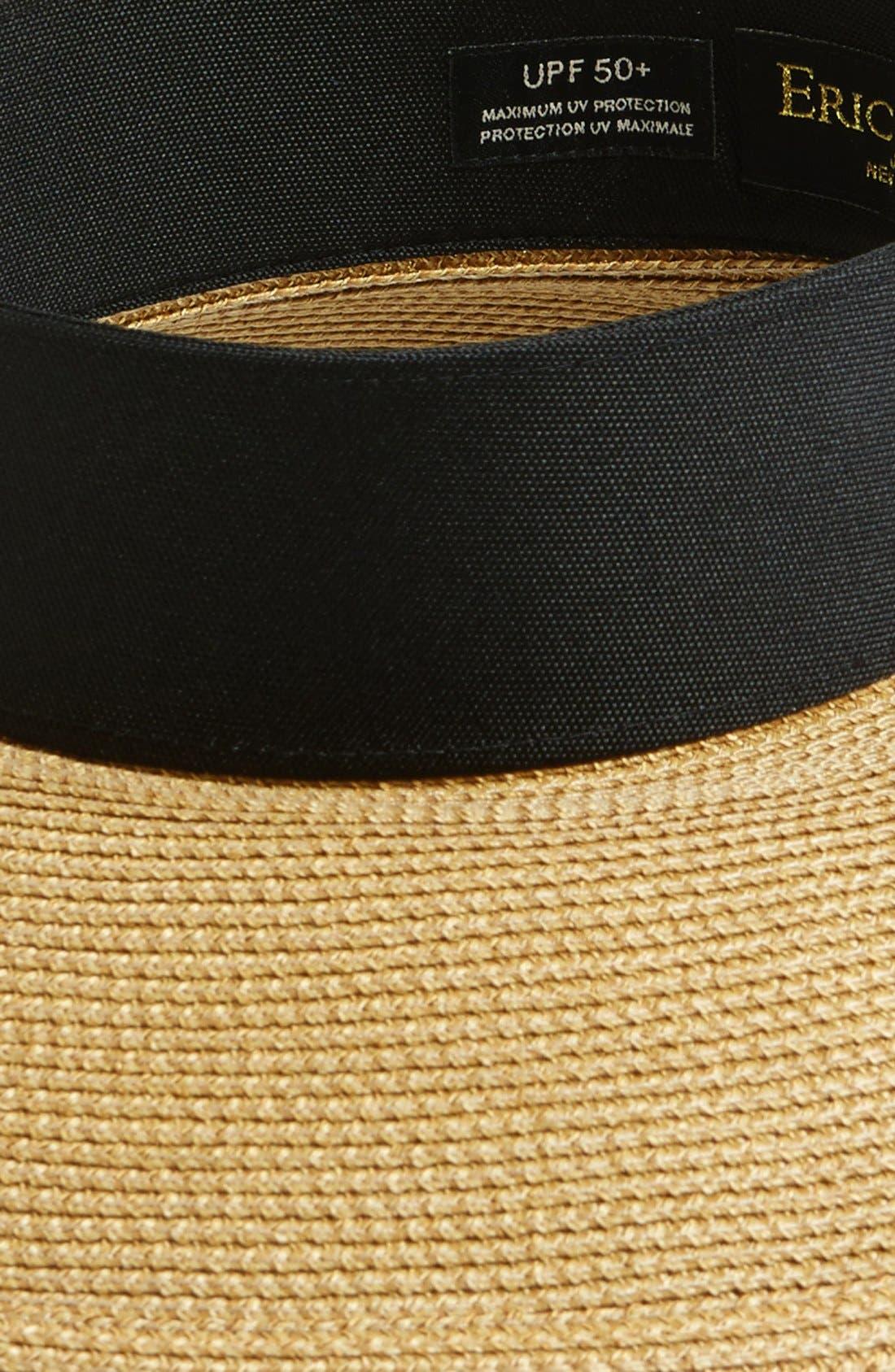 ERIC JAVITS, 'Squishee<sup>®</sup> Halo' Hat, Alternate thumbnail 2, color, NATURAL/ BLACK