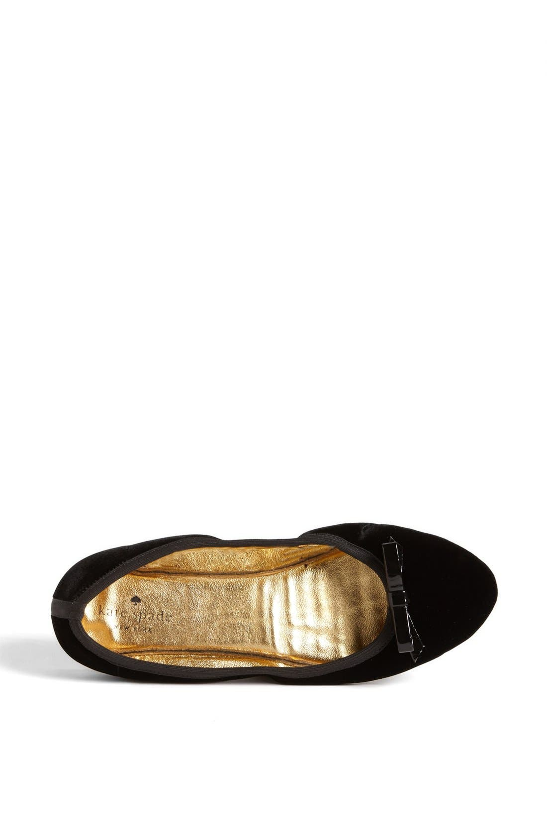 KATE SPADE NEW YORK, 'catcher' flat, Alternate thumbnail 5, color, 001