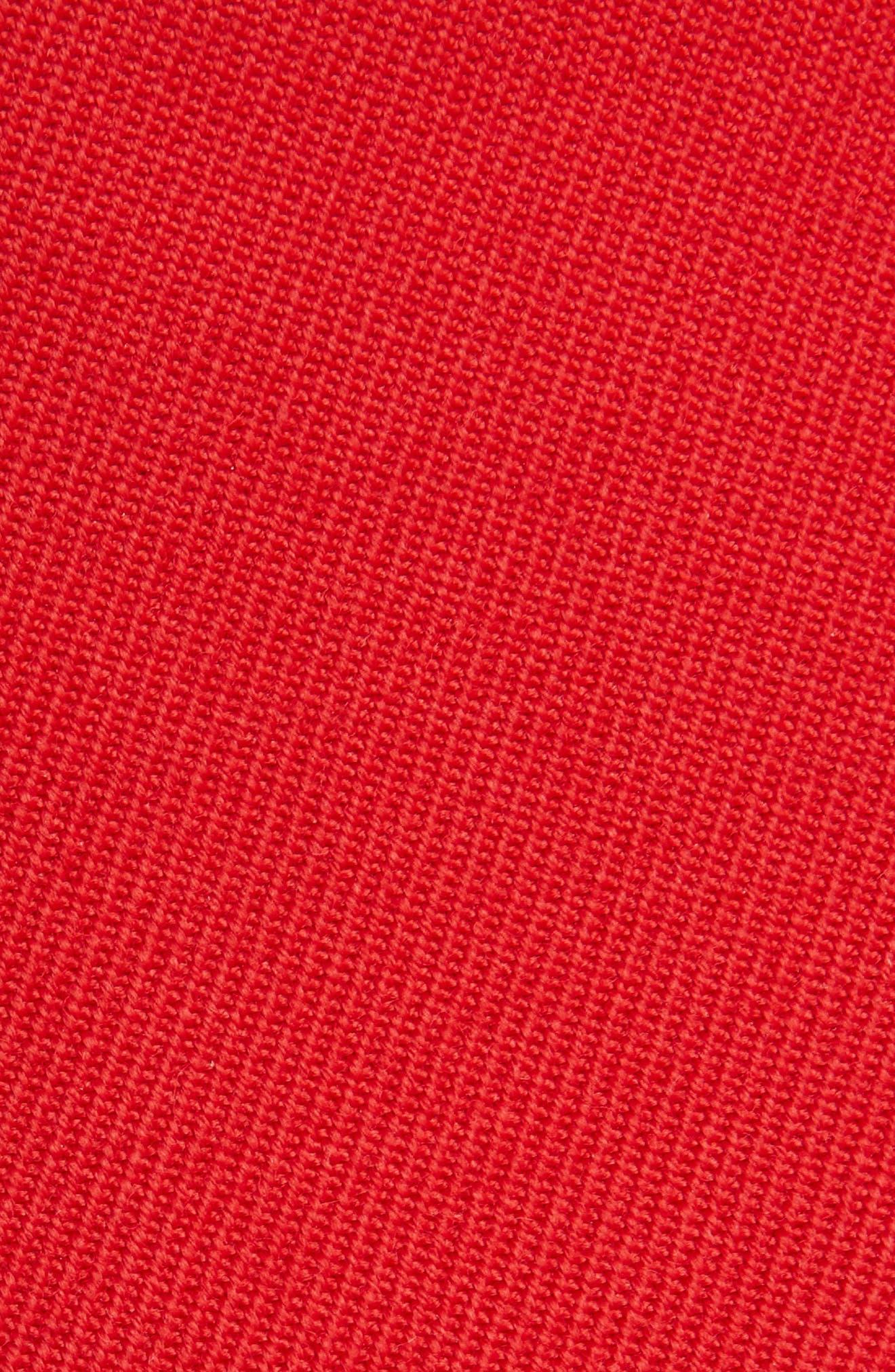 VICTORIA BECKHAM, High Waist Wool Pants, Alternate thumbnail 5, color, RED