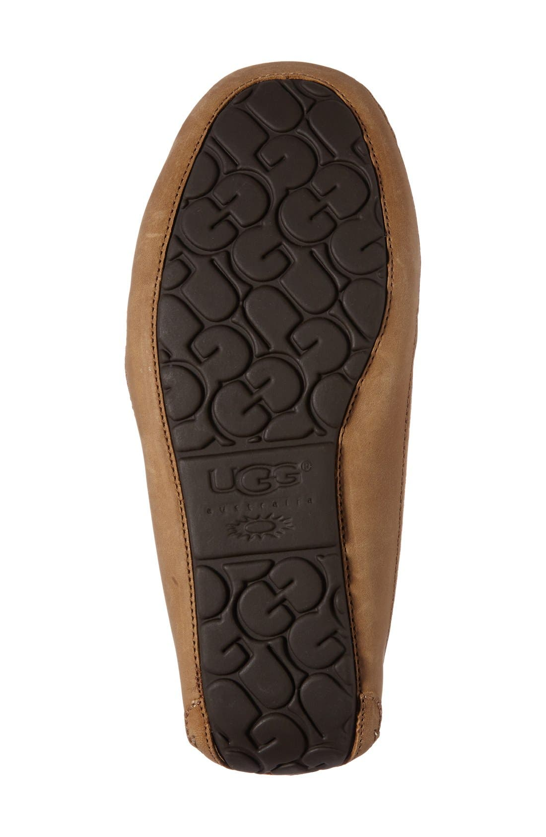 UGG<SUP>®</SUP>, 'Byron' Slipper, Alternate thumbnail 6, color, CHESTNUT
