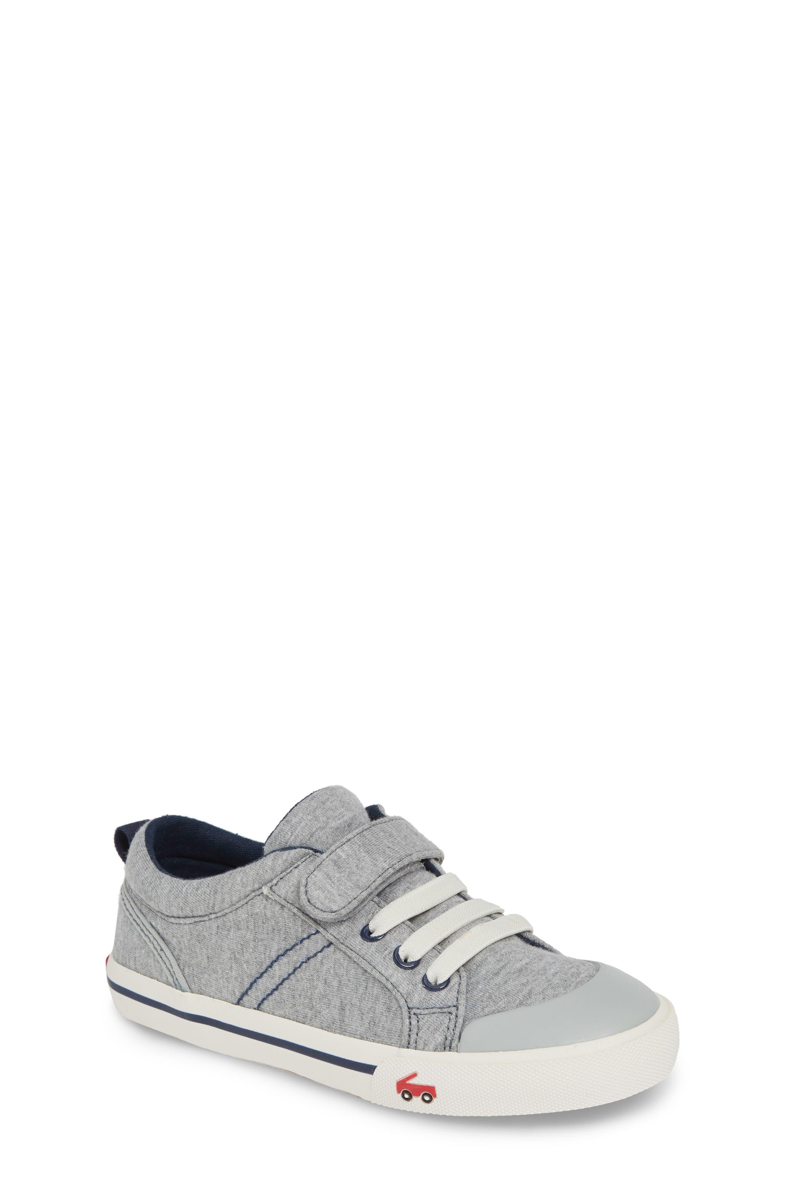 SEE KAI RUN, 'Tanner' Sneaker, Main thumbnail 1, color, GRAY/ BLUE JERSEY