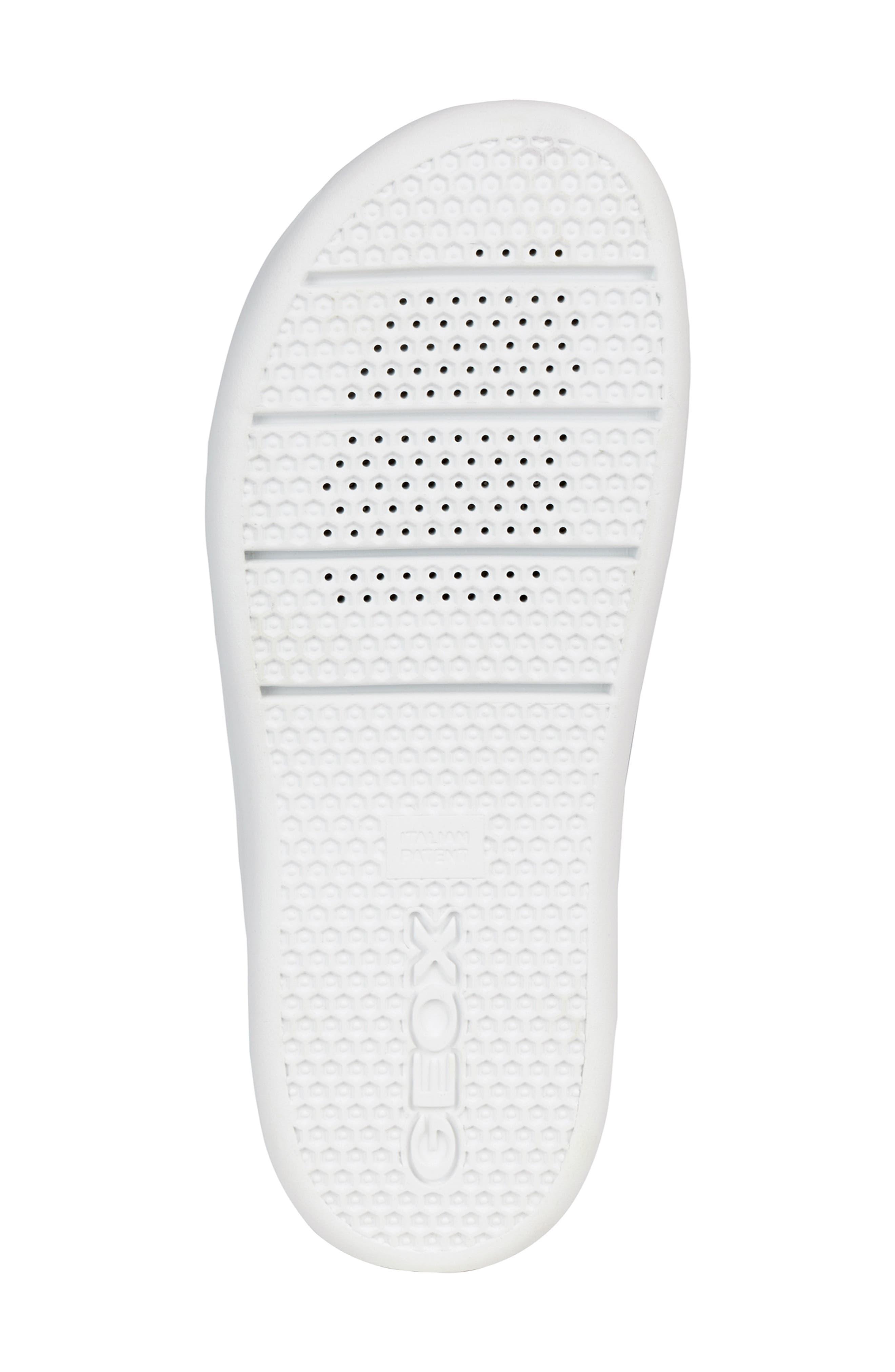 GEOX, Ottaya Studded Slide Sandal, Alternate thumbnail 6, color, BLACK LEATHER
