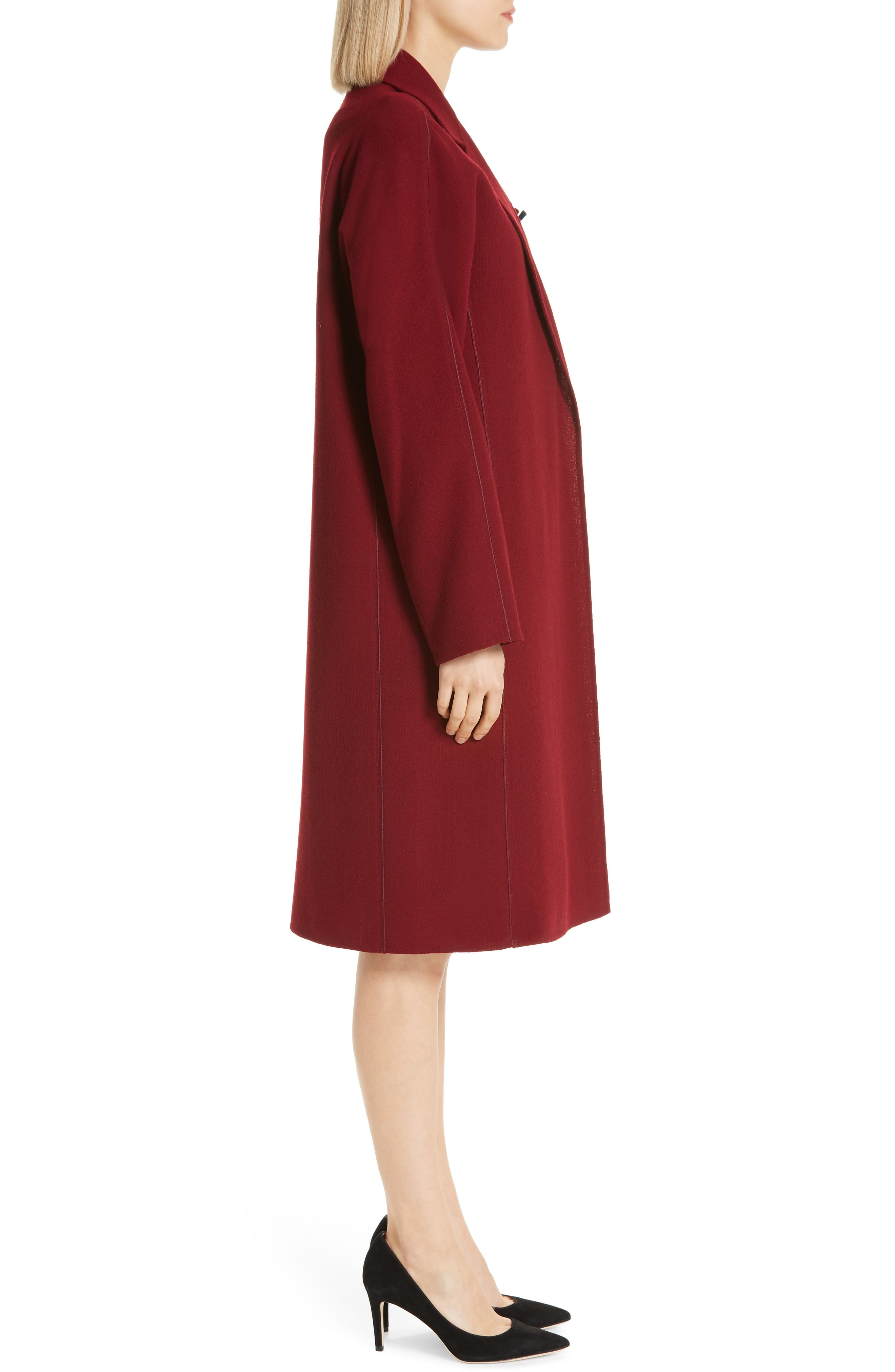 LAFAYETTE 148 NEW YORK, Wool Jacket with Pin, Alternate thumbnail 3, color, 600