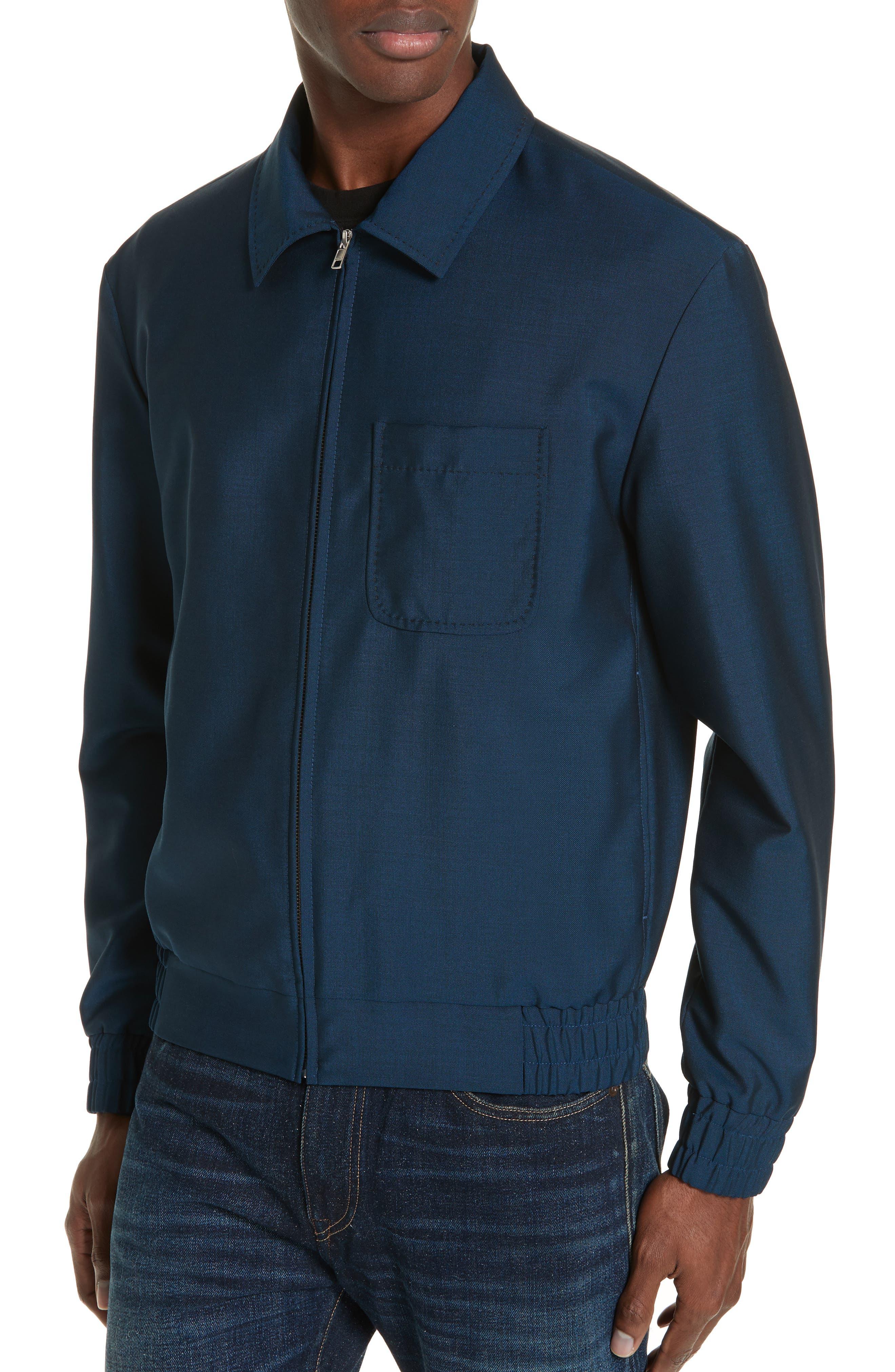 KENZO, Zip Jacket, Alternate thumbnail 4, color, DUCK BLUE