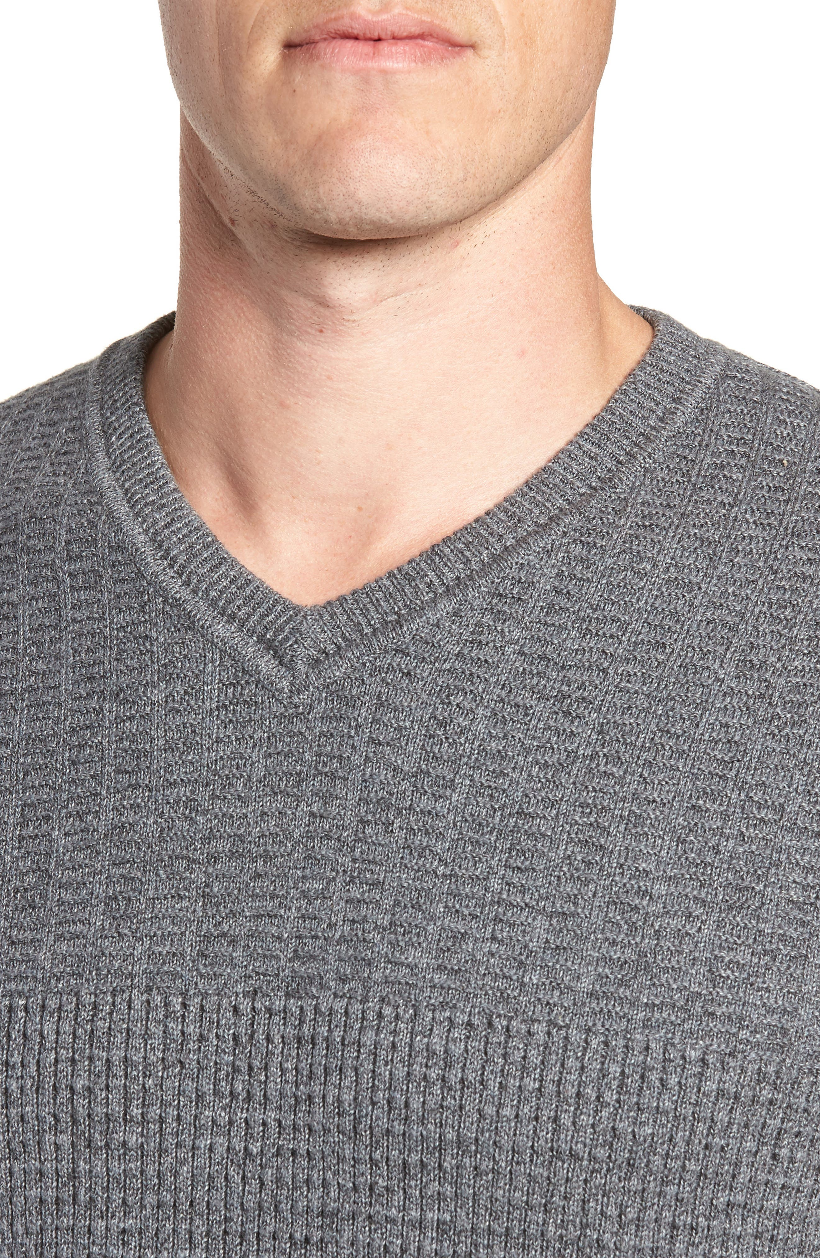 TOMMY BAHAMA, Isidro V-Neck Regular Fit Sweater, Alternate thumbnail 4, color, CAVE