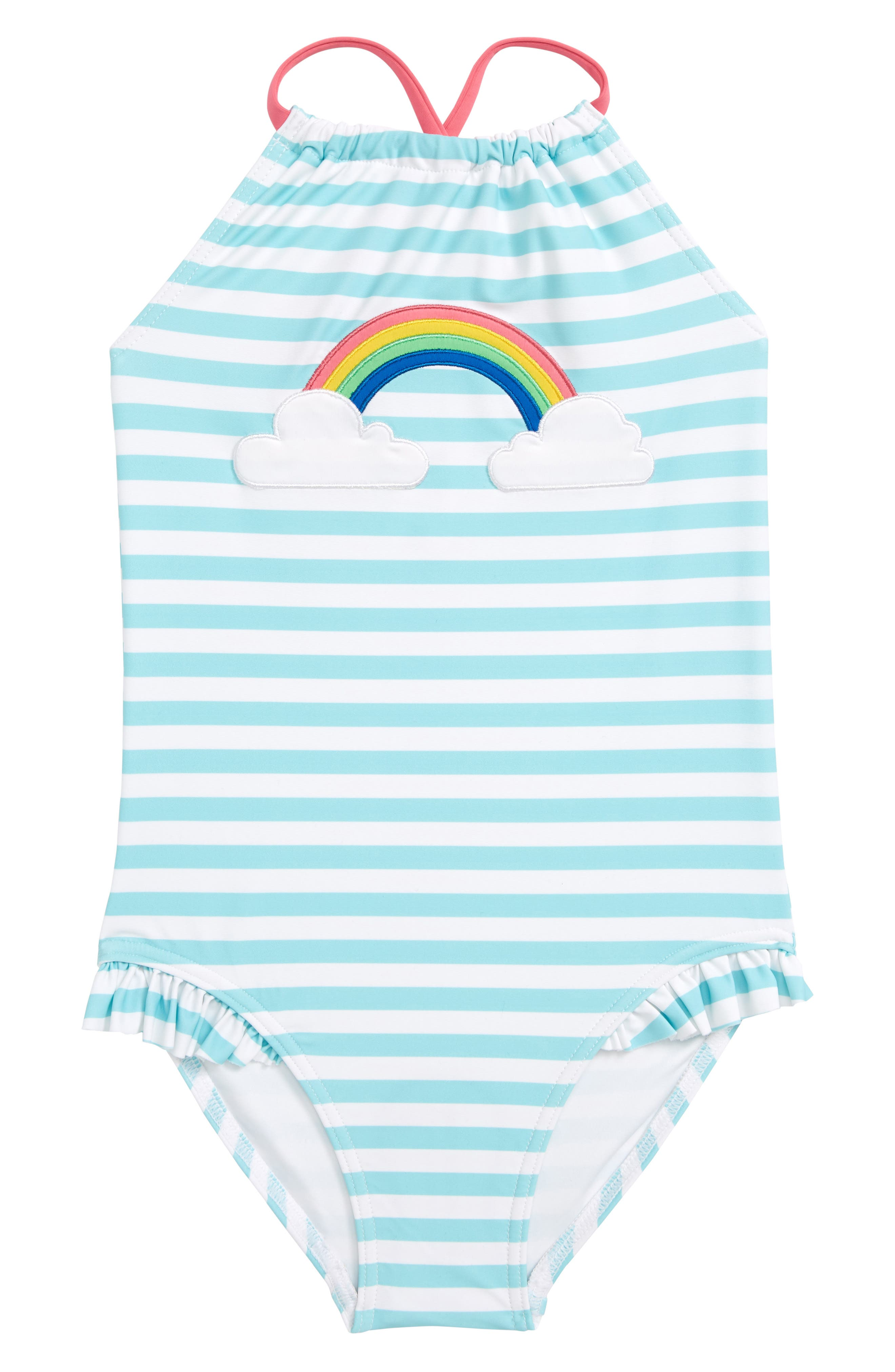 Toddler Girls Tucker  Tate Applique OnePiece Swimsuit Size 3T  Bluegreen