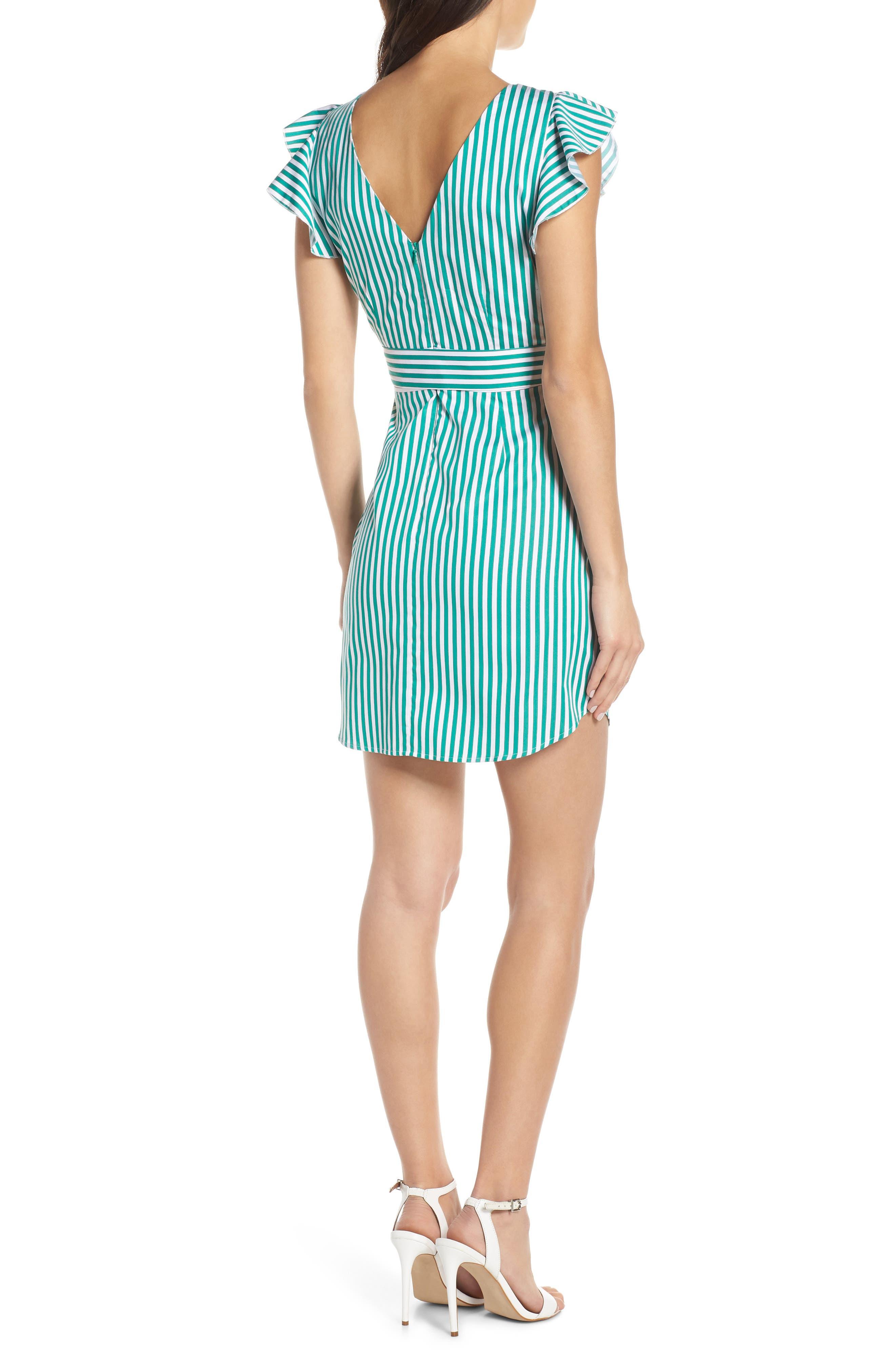 BB DAKOTA, Peppermint Stripe Dress, Alternate thumbnail 2, color, MISTY JADE