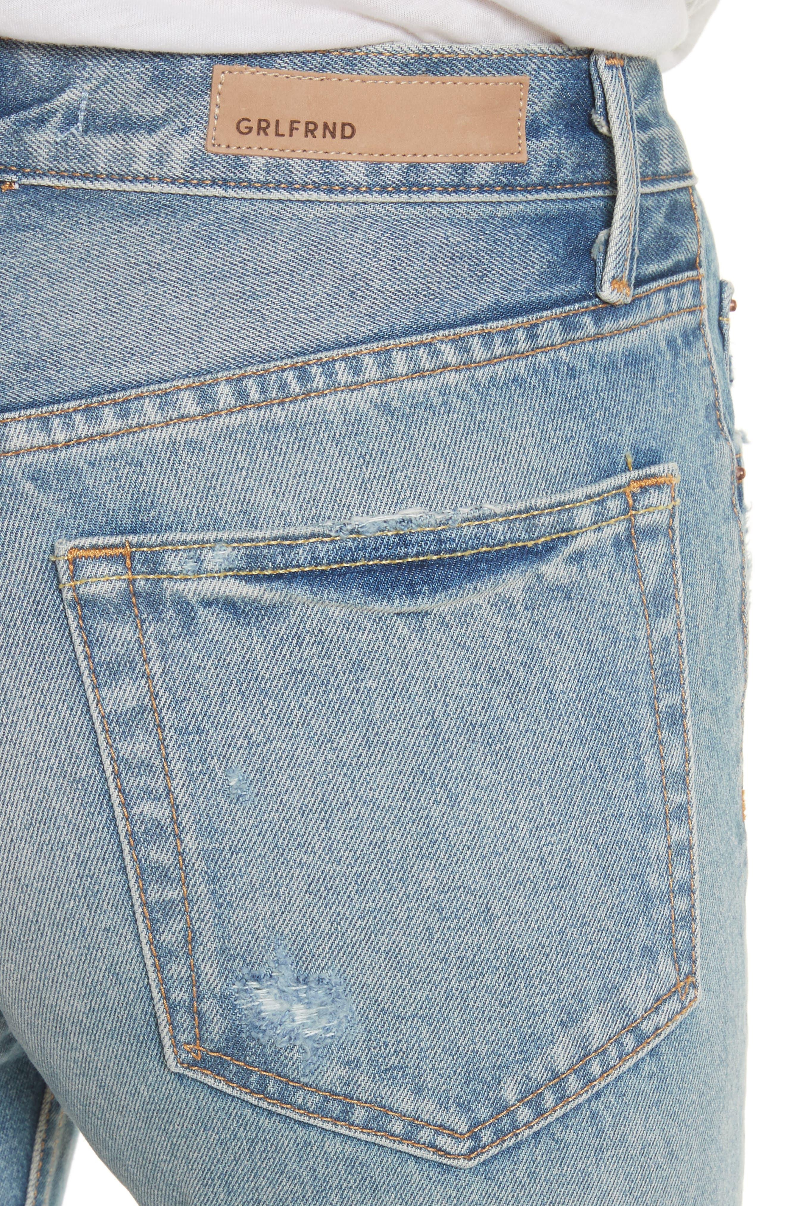 GRLFRND, Karolina Rigid High Waist Skinny Jeans, Alternate thumbnail 5, color, A LITTLE MORE LOVE