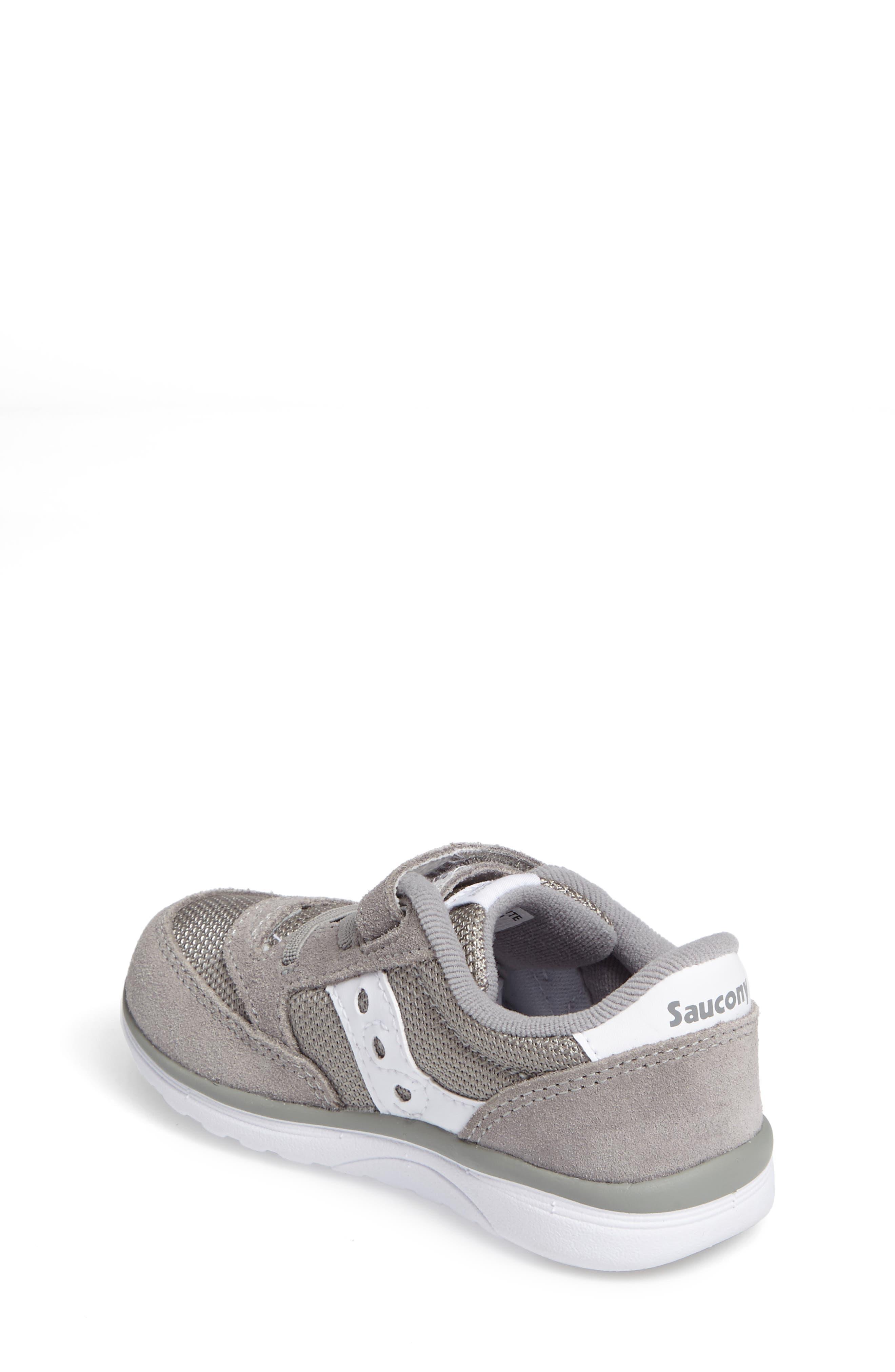 SAUCONY, Jazz Lite Sneaker, Alternate thumbnail 2, color, GREY/ WHITE