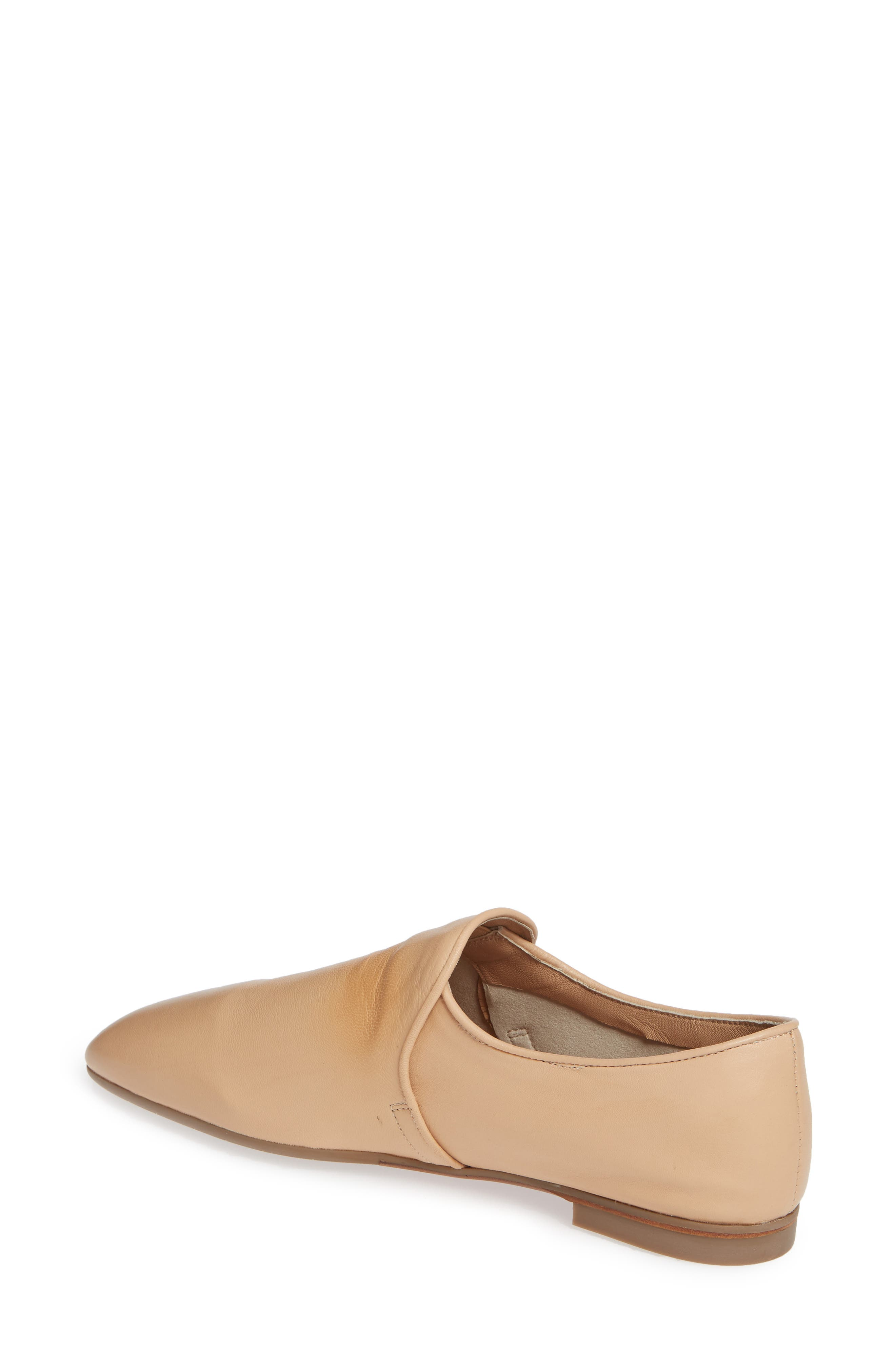 AQUATALIA, Revy Weatherporoof Loafer, Alternate thumbnail 2, color, NUDE NAPPA