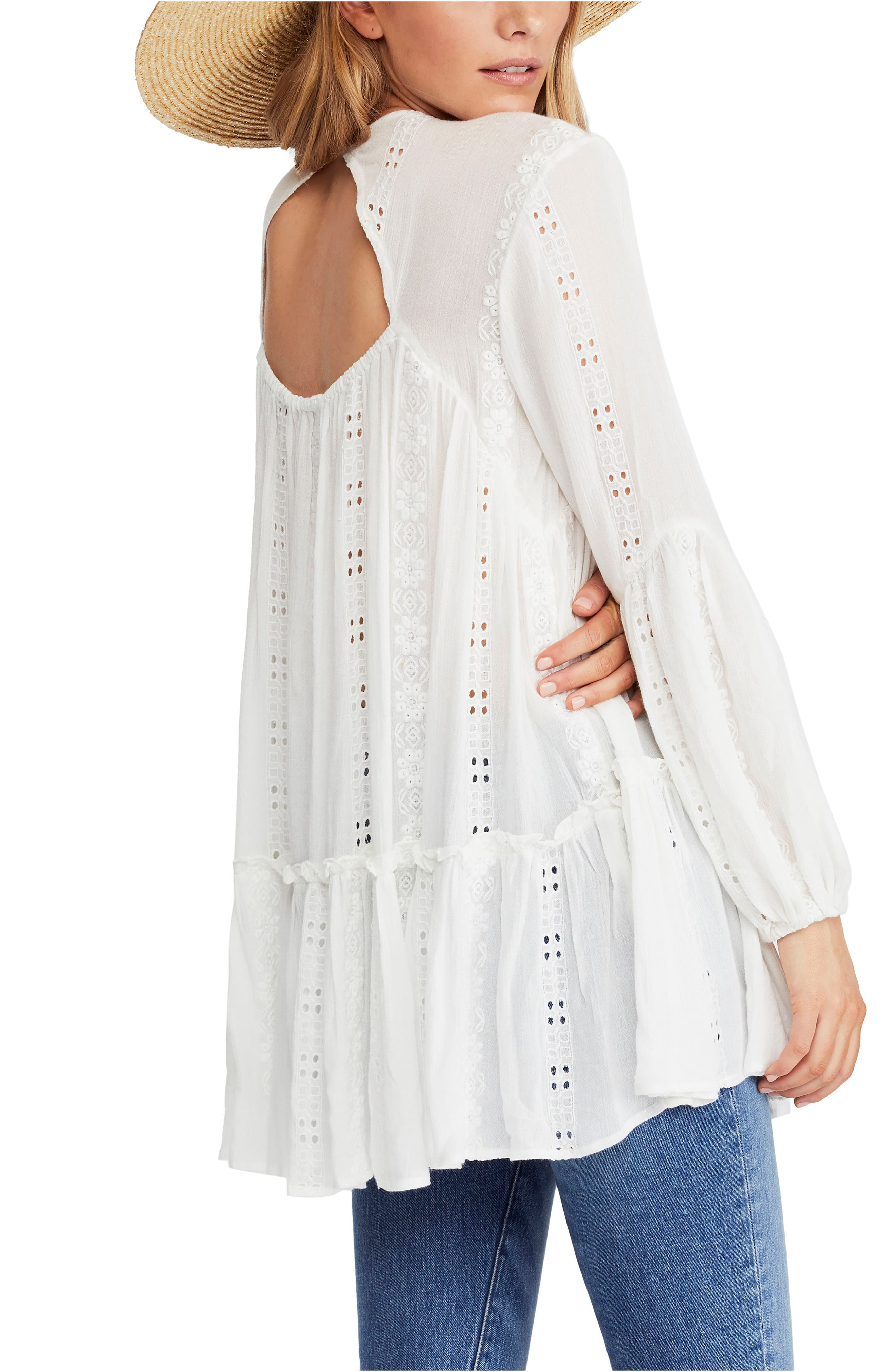 FREE PEOPLE, Kiss Kiss Tunic, Alternate thumbnail 2, color, 103