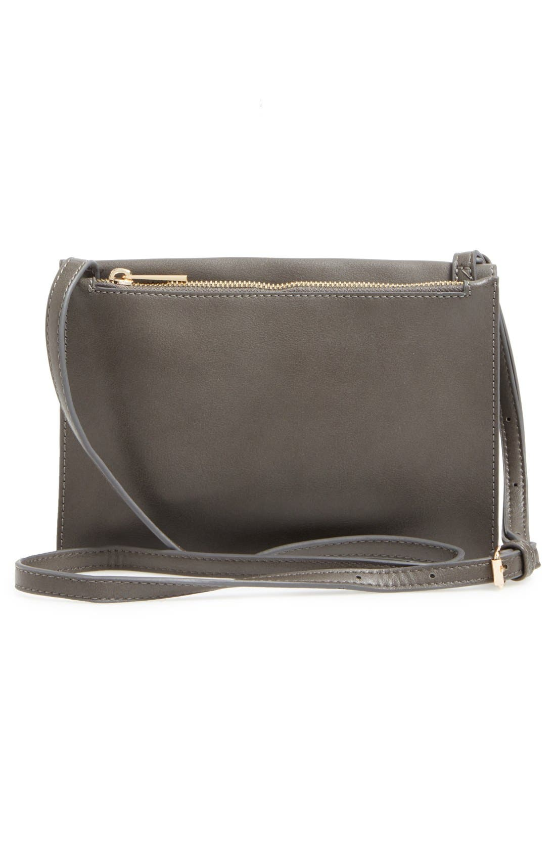 SOLE SOCIETY, 'Vanessa' Faux Leather Crossbody Bag, Alternate thumbnail 3, color, 020