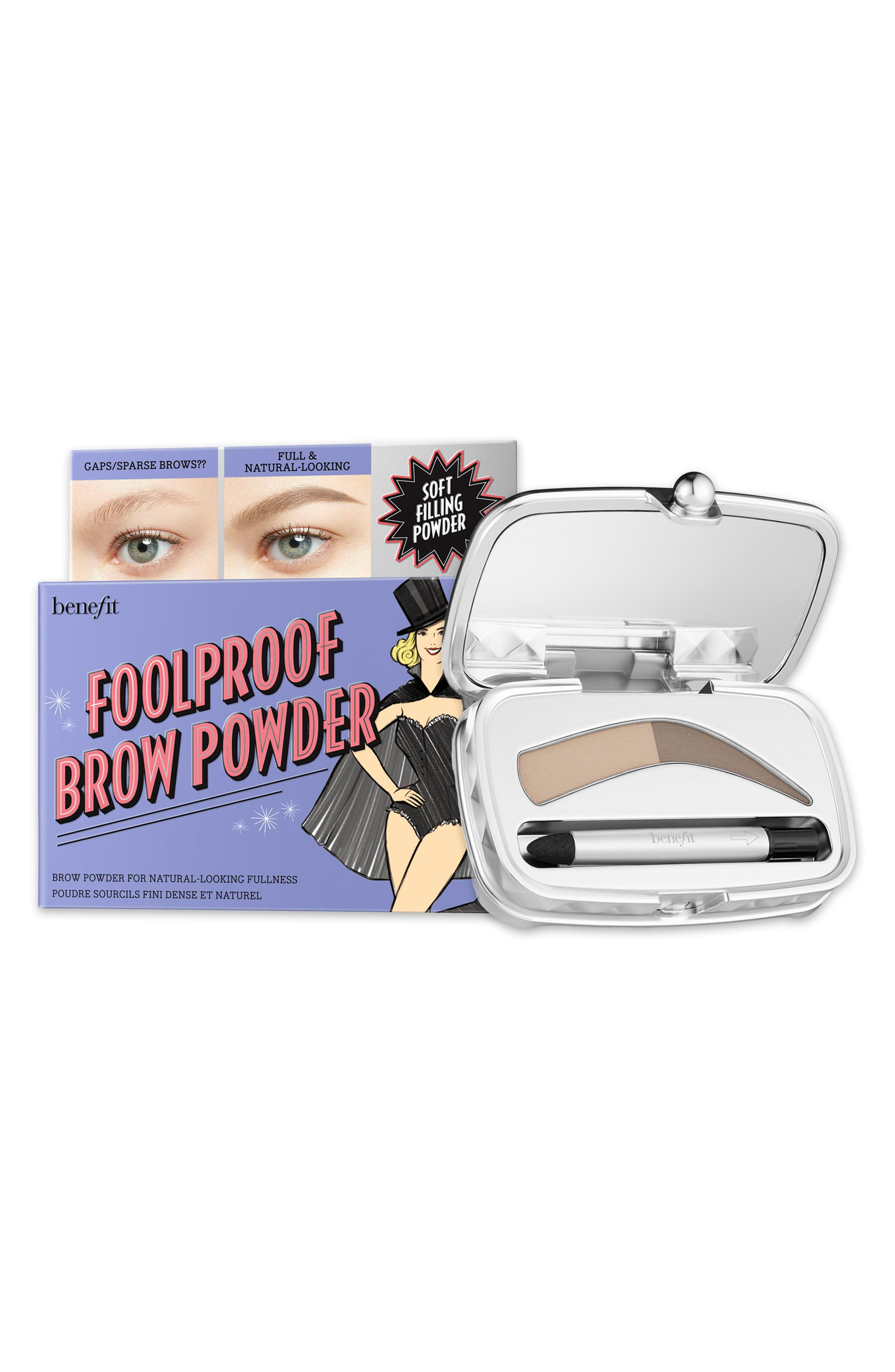 BENEFIT COSMETICS, Benefit Foolproof Brow Powder, Alternate thumbnail 2, color, 01 - LIGHT