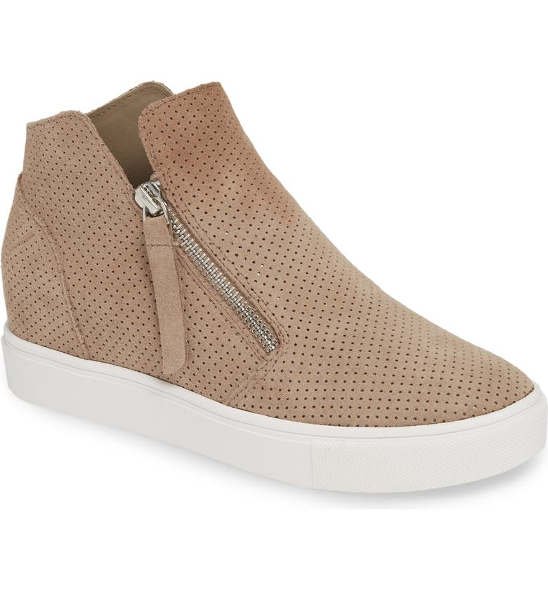 748879d1349 Steve Madden Caliber High Top Sneaker In Taupe Suede
