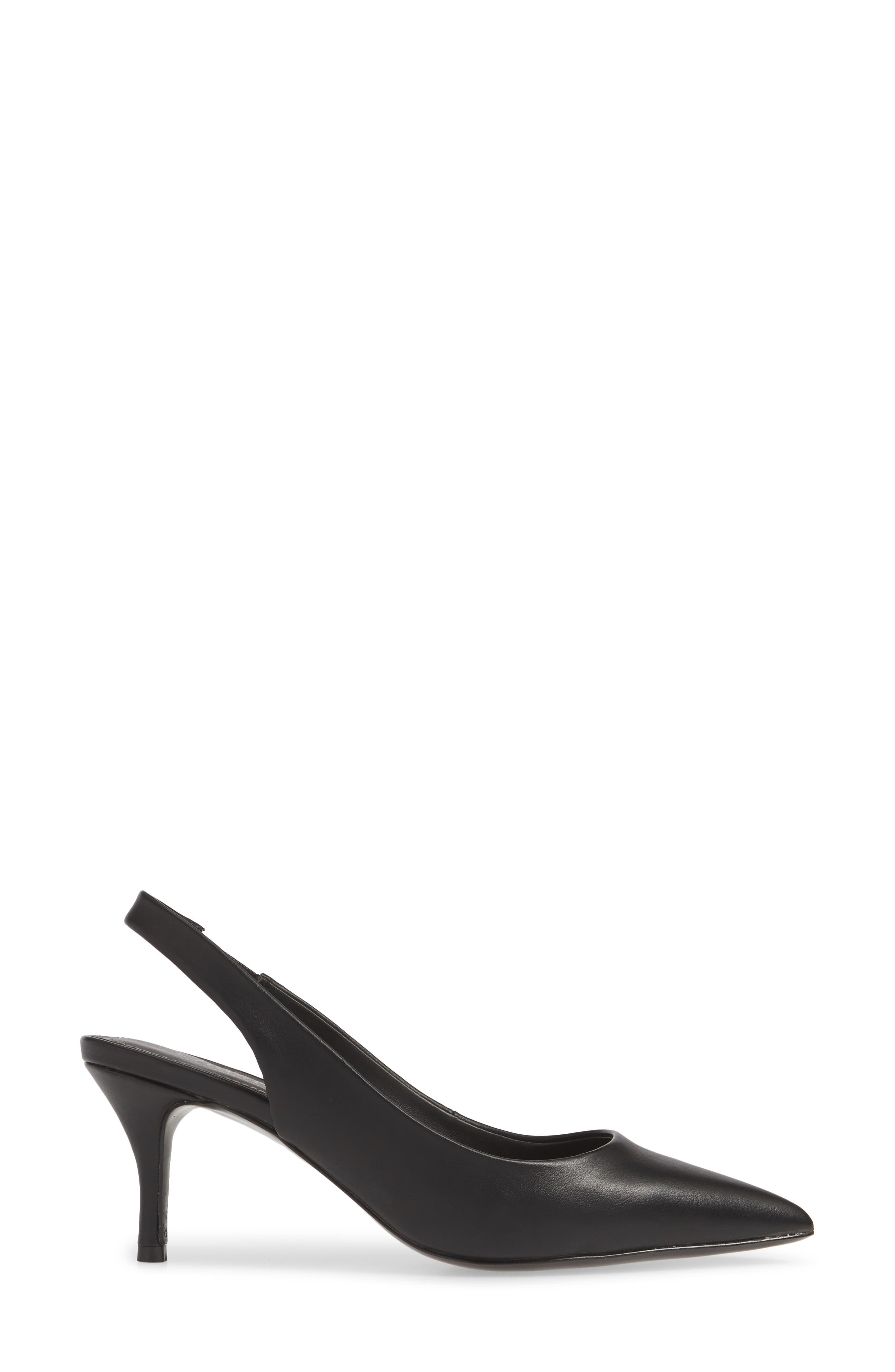 CHARLES BY CHARLES DAVID, Amy Slingback Pump, Alternate thumbnail 3, color, BLACK FAUX LEATHER
