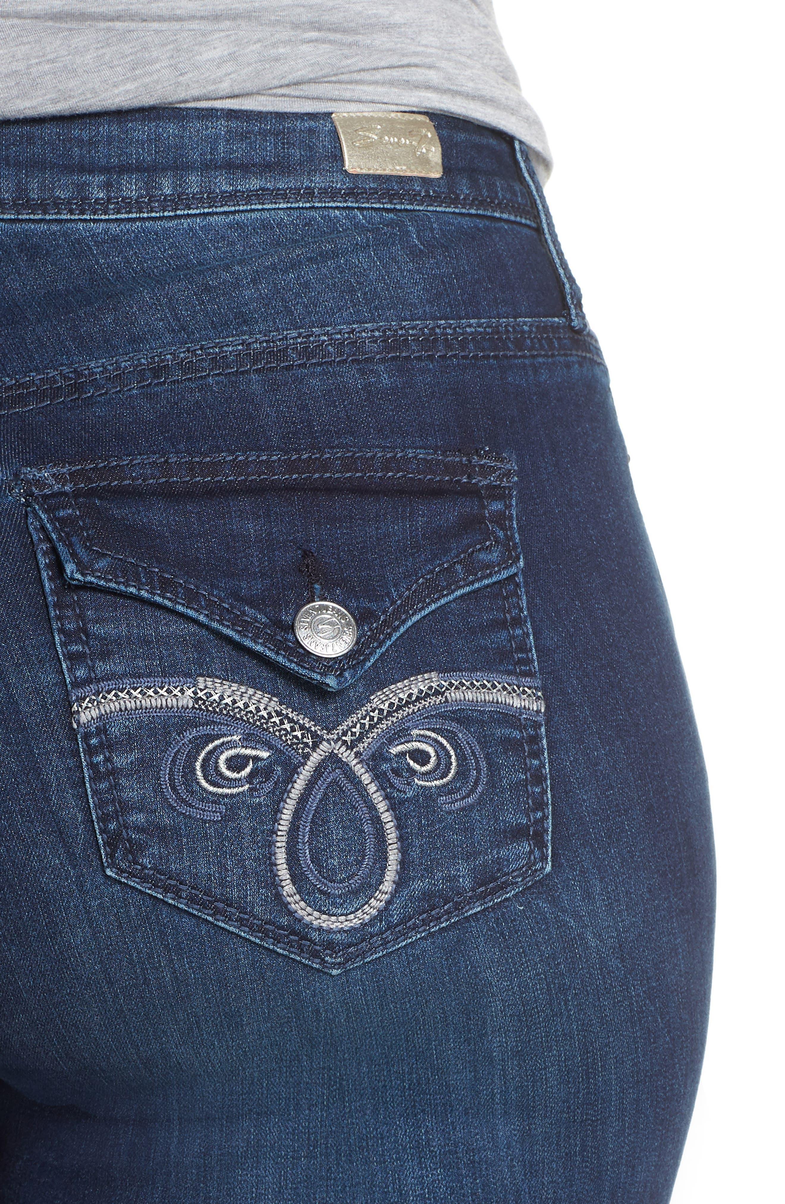 SEVEN7, Rocker Flap Pocket Slim Bootcut Jeans, Alternate thumbnail 5, color, CHALLENGER