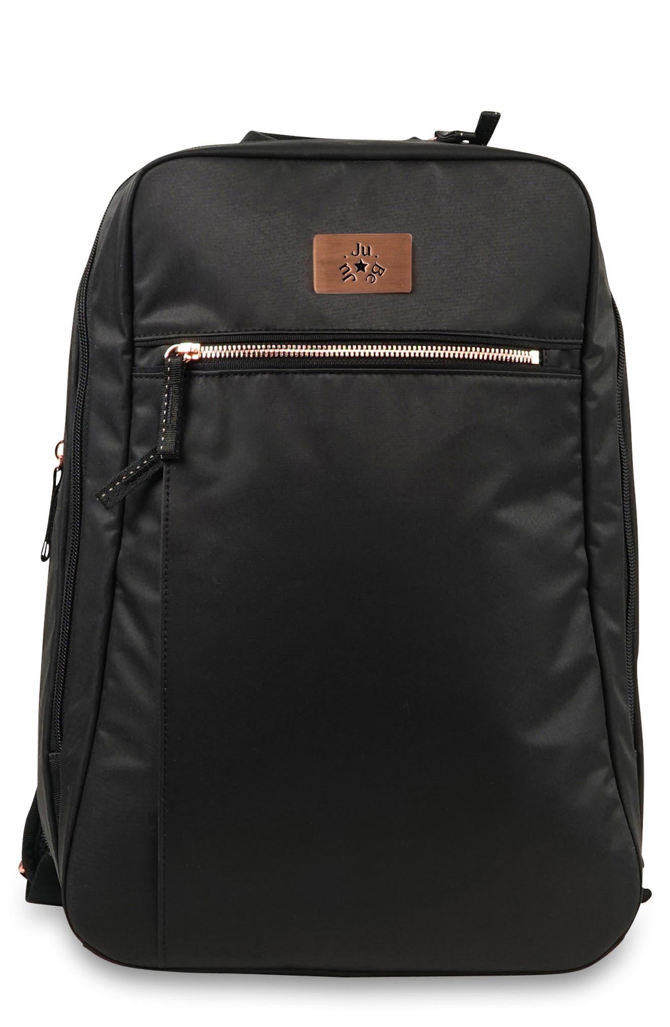JU-JU-BE Ballad Backpack, Main, color, BLACK ROSE