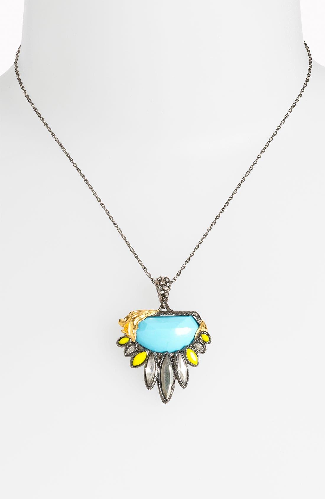 ALEXIS BITTAR, 'Elements' Navette Pendant Necklace., Main thumbnail 1, color, 710