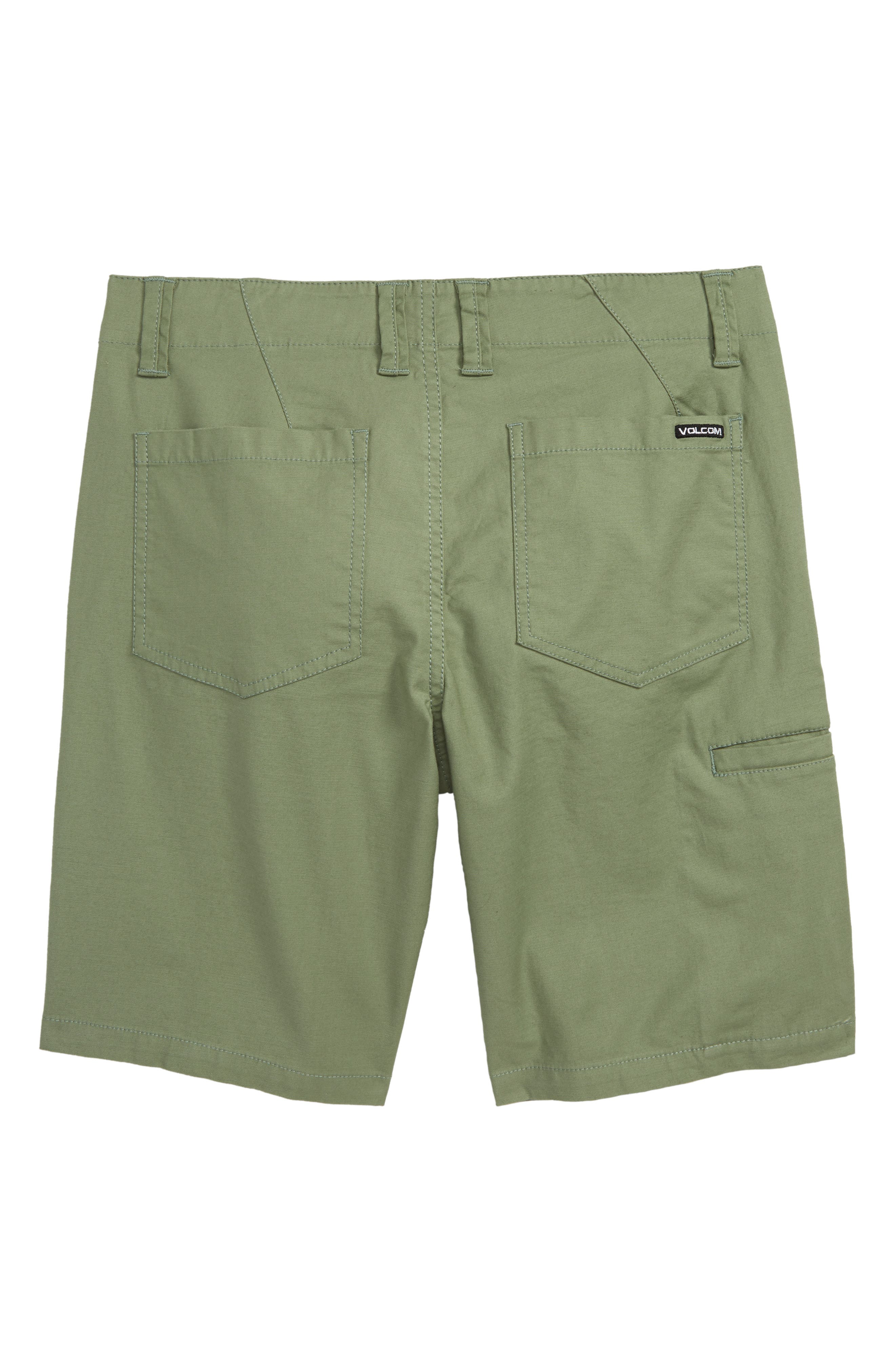VOLCOM, Riser Shorts, Alternate thumbnail 2, color, FADED ARMY