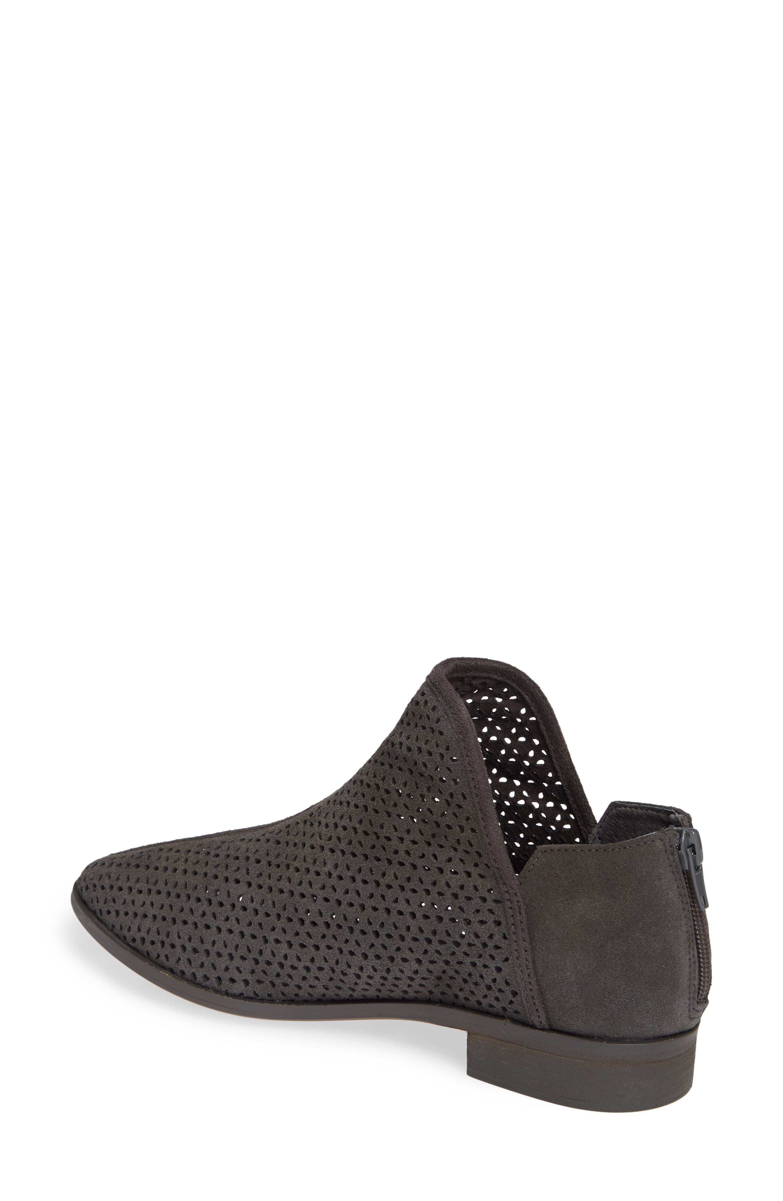 KELSI DAGGER BROOKLYN, Alley Perforated Bootie, Alternate thumbnail 2, color, CHARCOAL