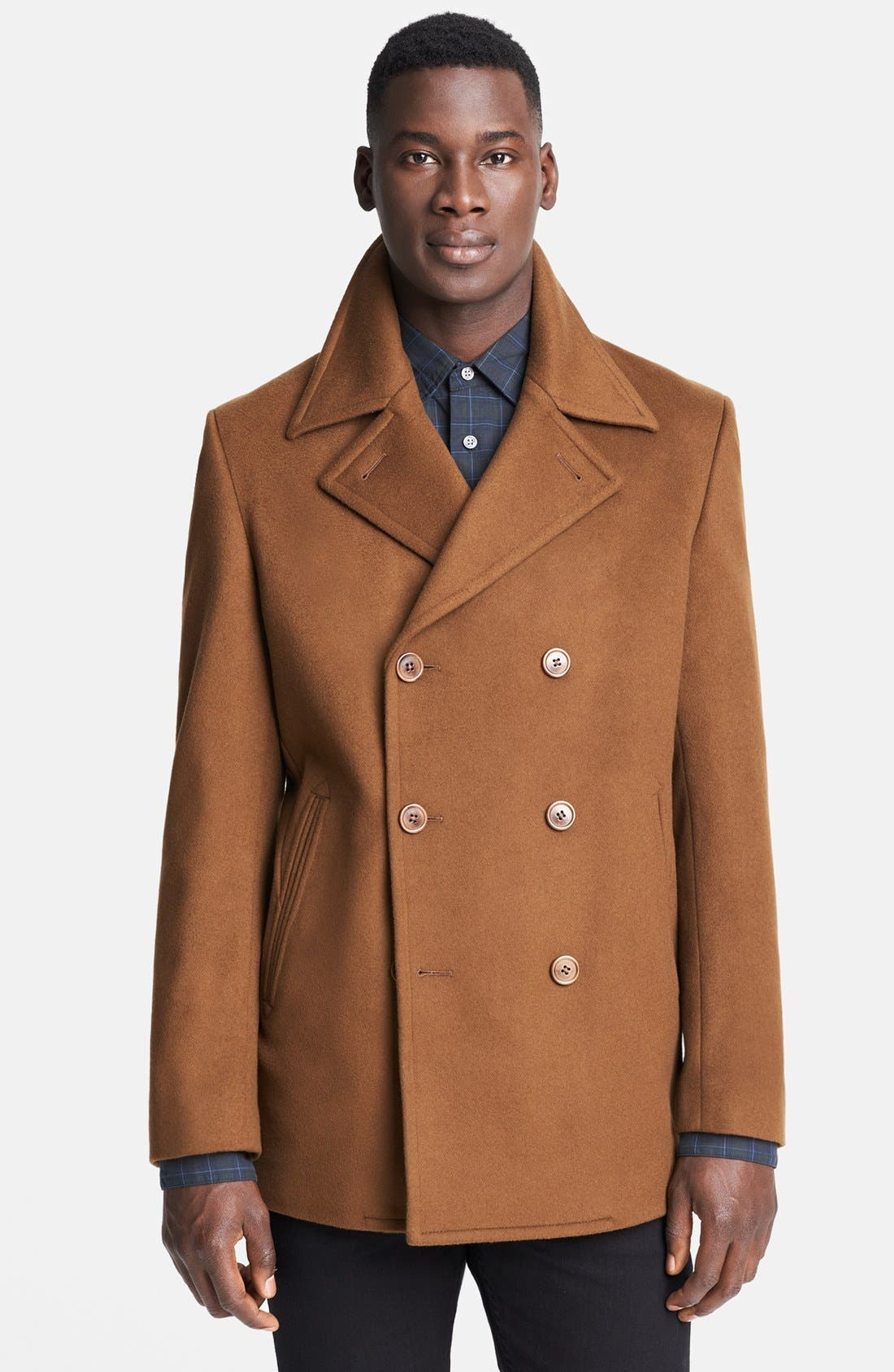 JOHN VARVATOS STAR USA, 'Perkins' Peacoat, Main thumbnail 1, color, 242