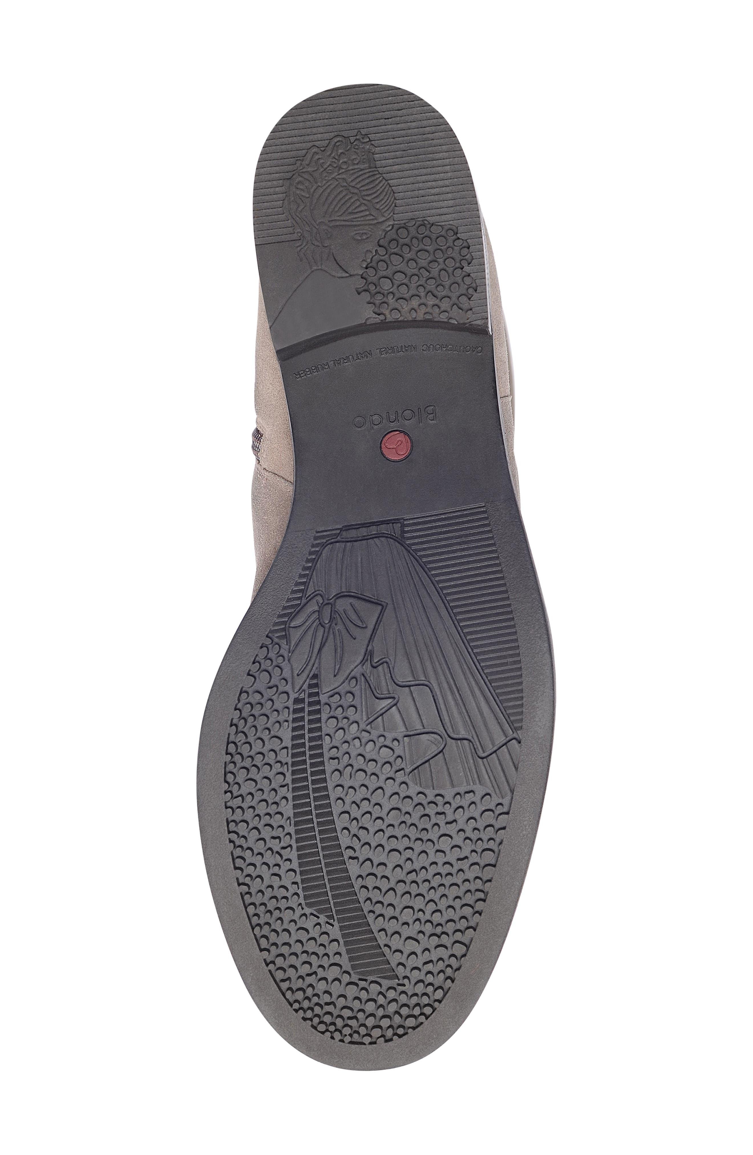 BLONDO, Erika Waterproof Knee High Boot, Alternate thumbnail 6, color, DARK TAUPE SUEDE