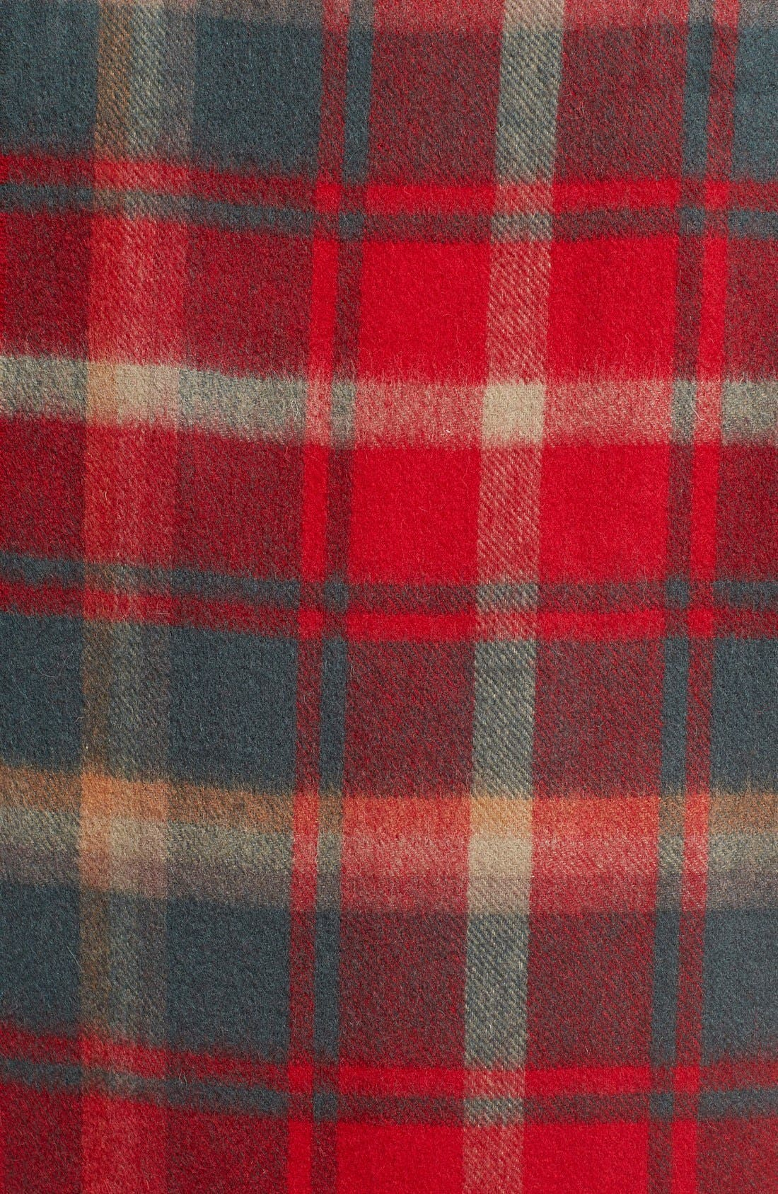 BARBOUR, 'Shilhope' Plaid Wool Scarf, Alternate thumbnail 2, color, 201