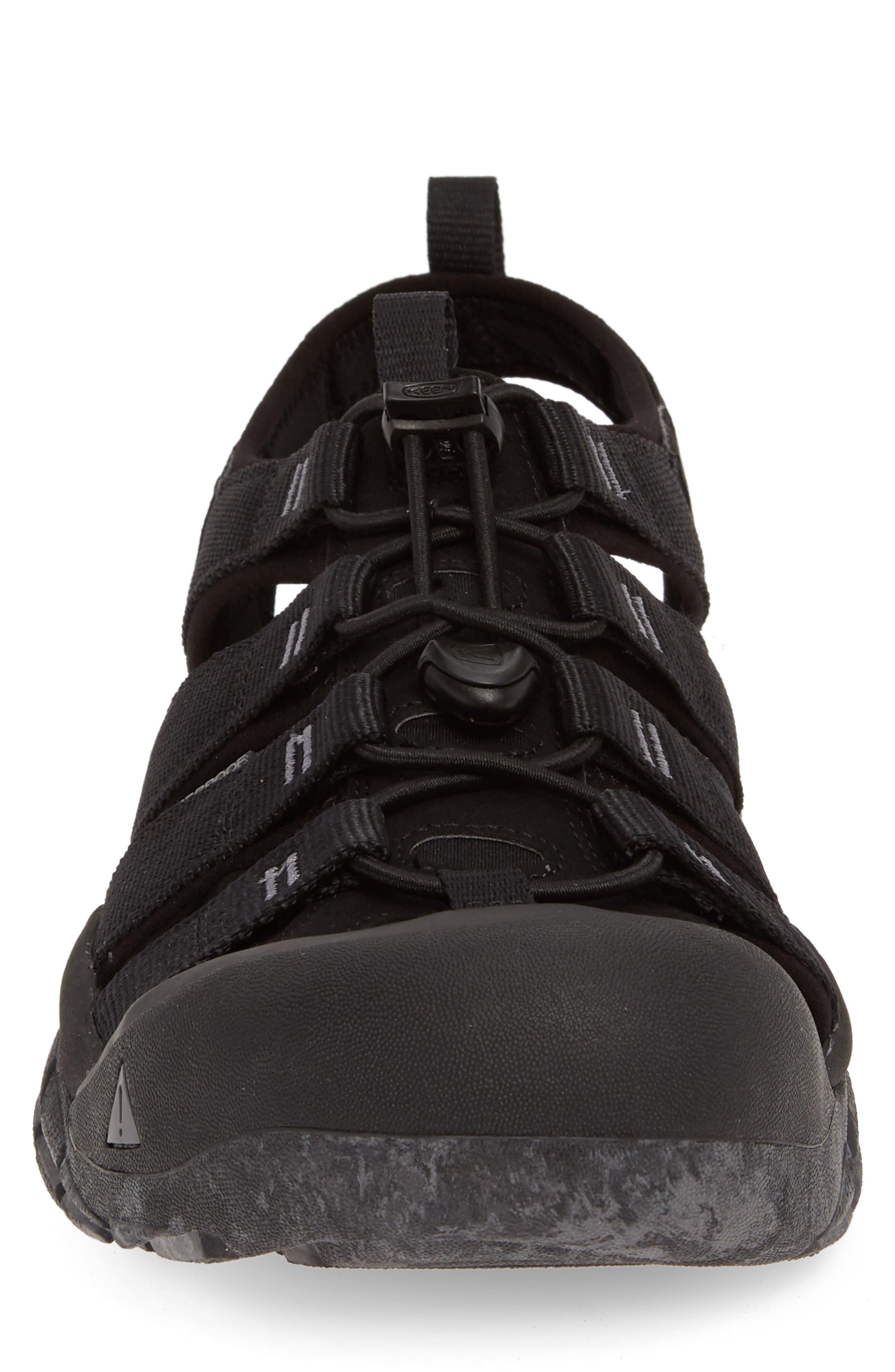 KEEN, 'Newport H2' Sandal, Alternate thumbnail 4, color, BLACK/ SWIRL OUTSOLE
