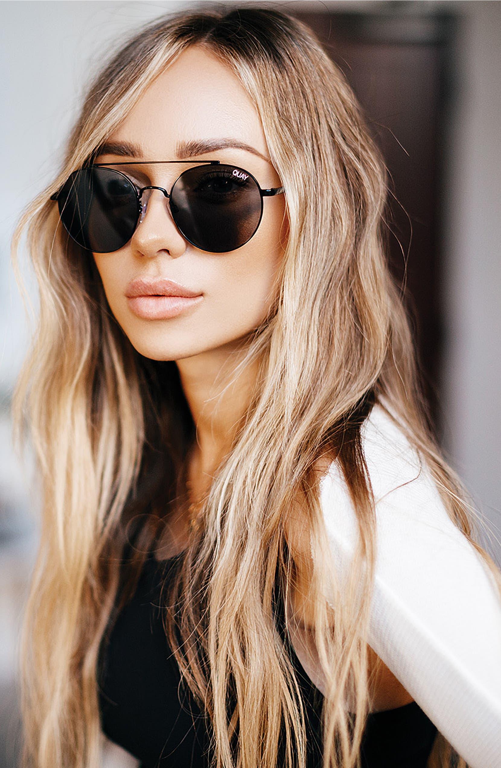 e331779032 Quay Australia Outshine 53mm Round Sunglasses
