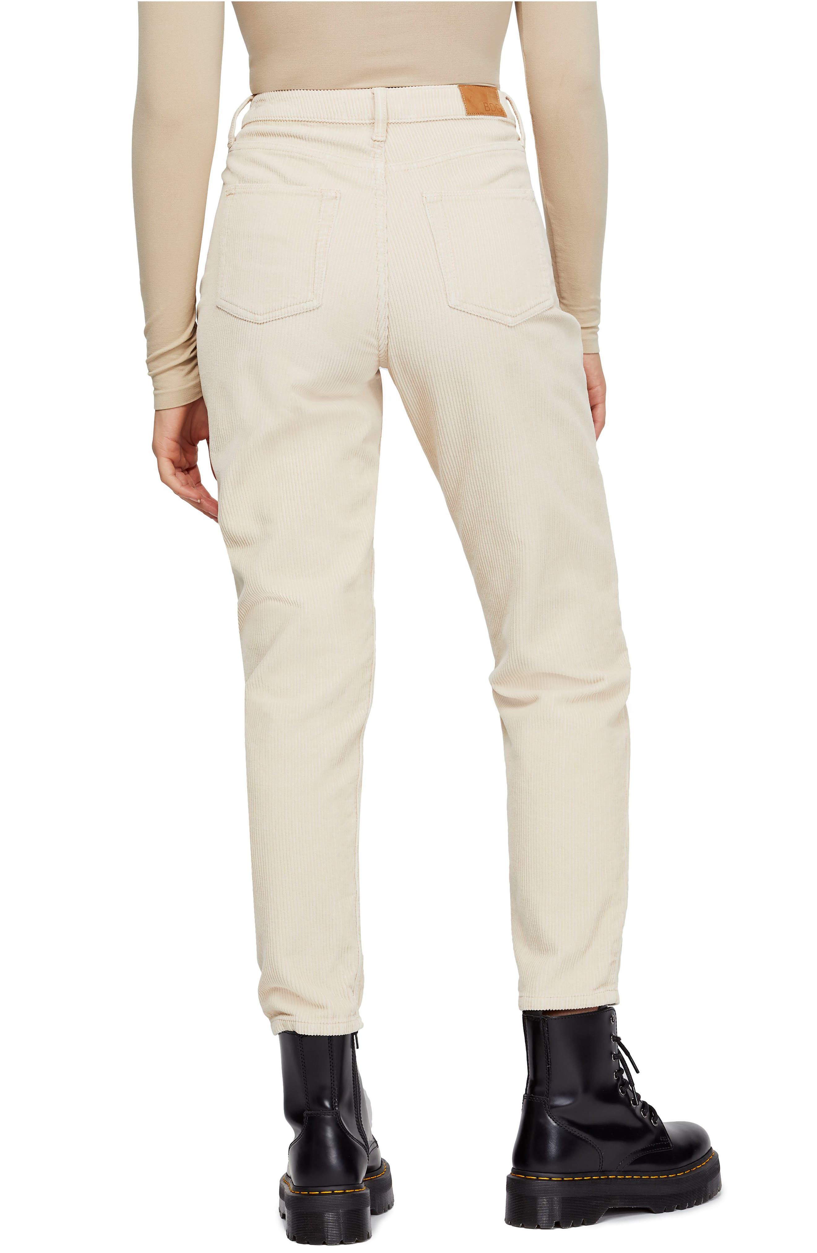 BDG, Urban Outfitters Mom Corduroy Pants, Alternate thumbnail 2, color, WHITE