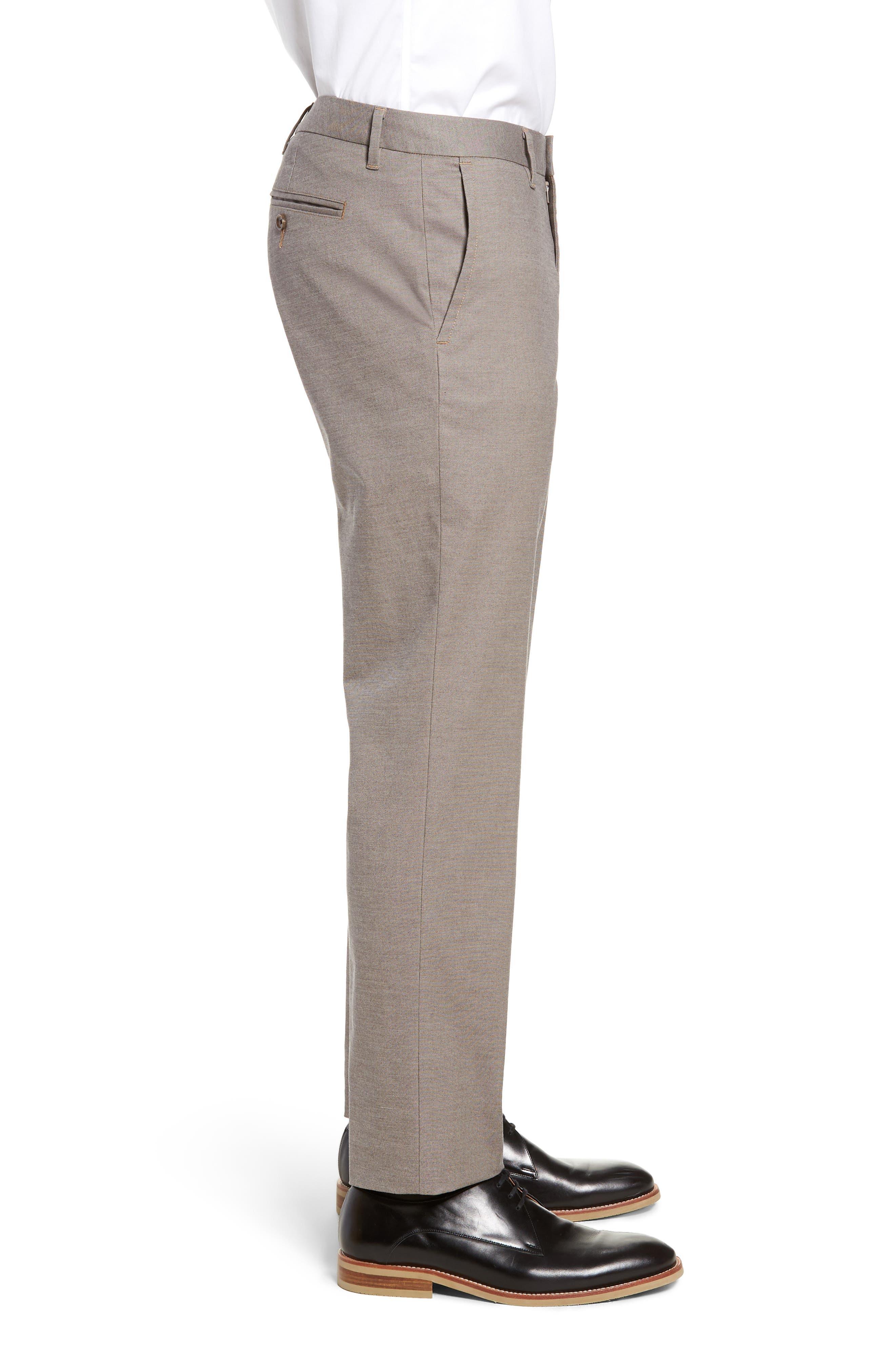 BONOBOS, Weekday Warrior Slim Fit Stretch Dress Pants, Alternate thumbnail 4, color, LIGHT KHAKI YARN DYE