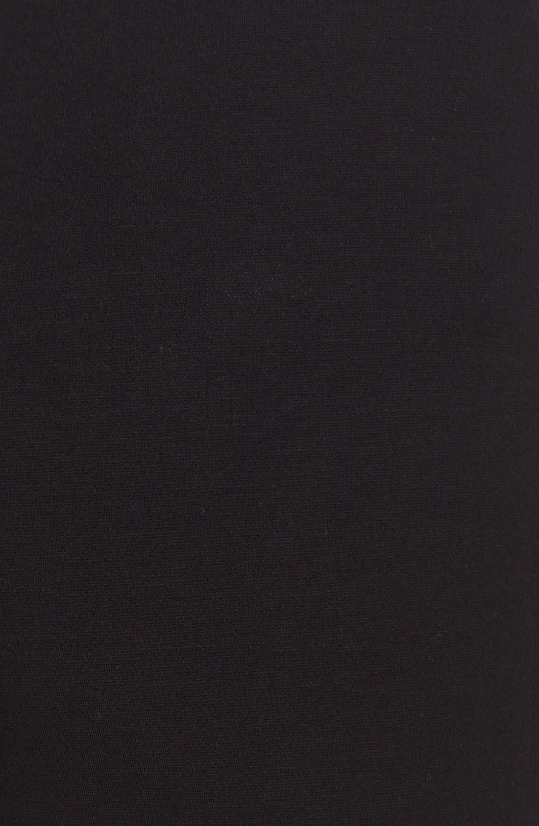 ST. JOHN COLLECTION, Ponte Knit Ankle Pants, Alternate thumbnail 11, color, CAVIAR
