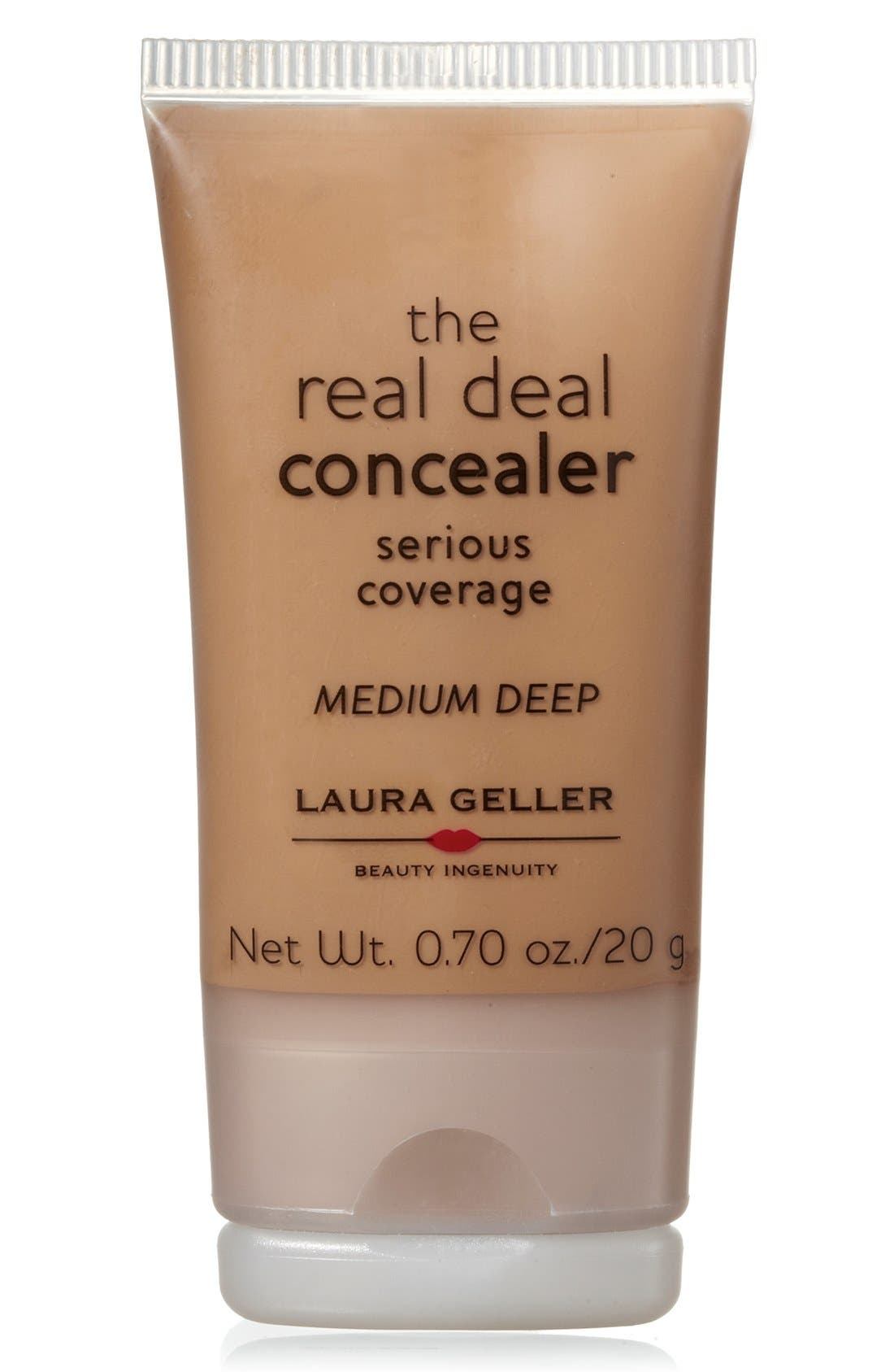 LAURA GELLER BEAUTY, Real Deal Concealer, Main thumbnail 1, color, 200