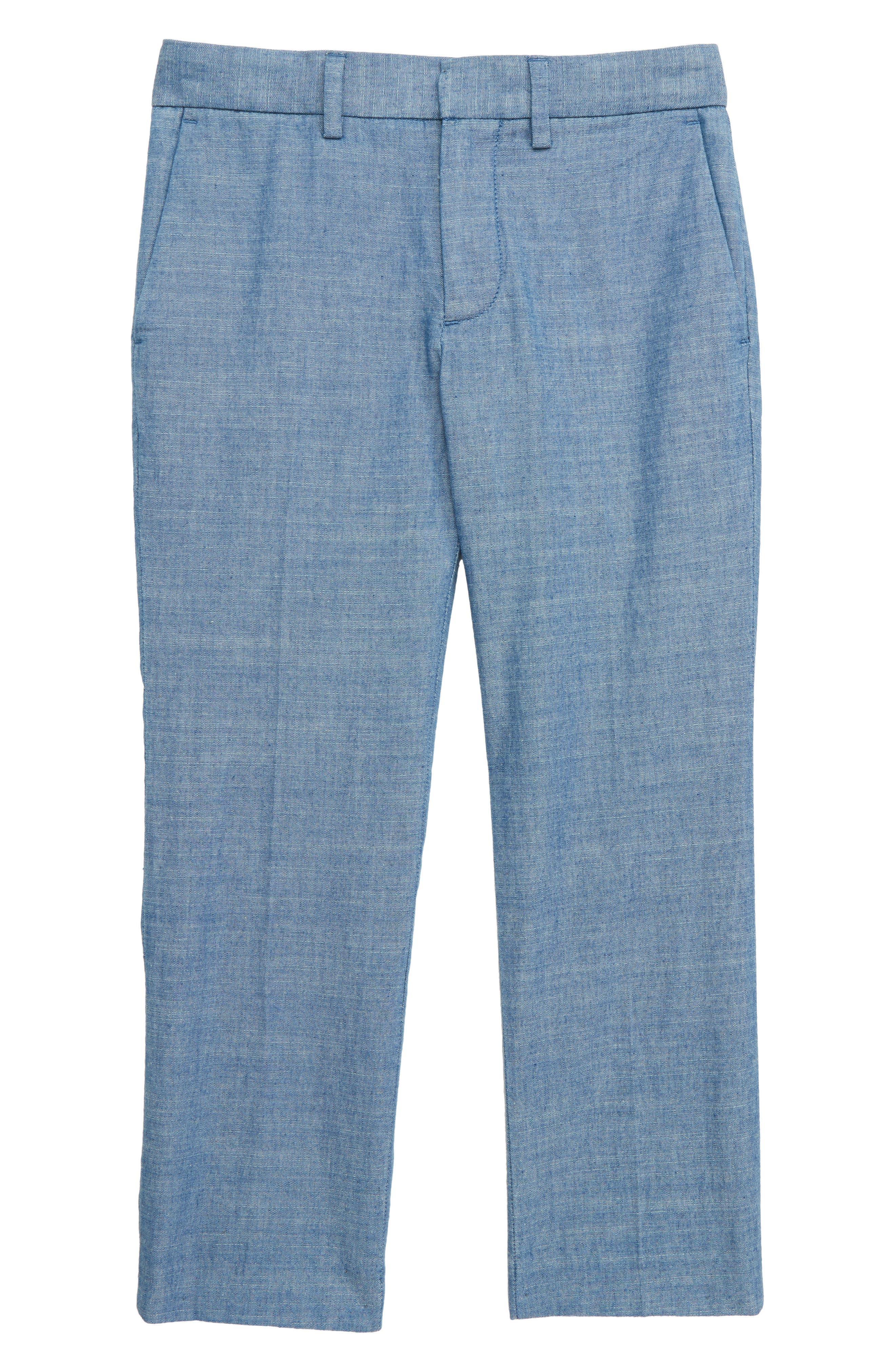 Boys Crewcuts By Jcrew Ludlow Chambray Suit Pants Size 6  Blue