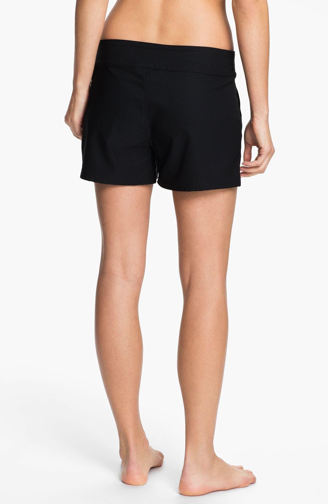 LA BLANCA, 'Boardwalk' Shorts, Alternate thumbnail 3, color, BLACK