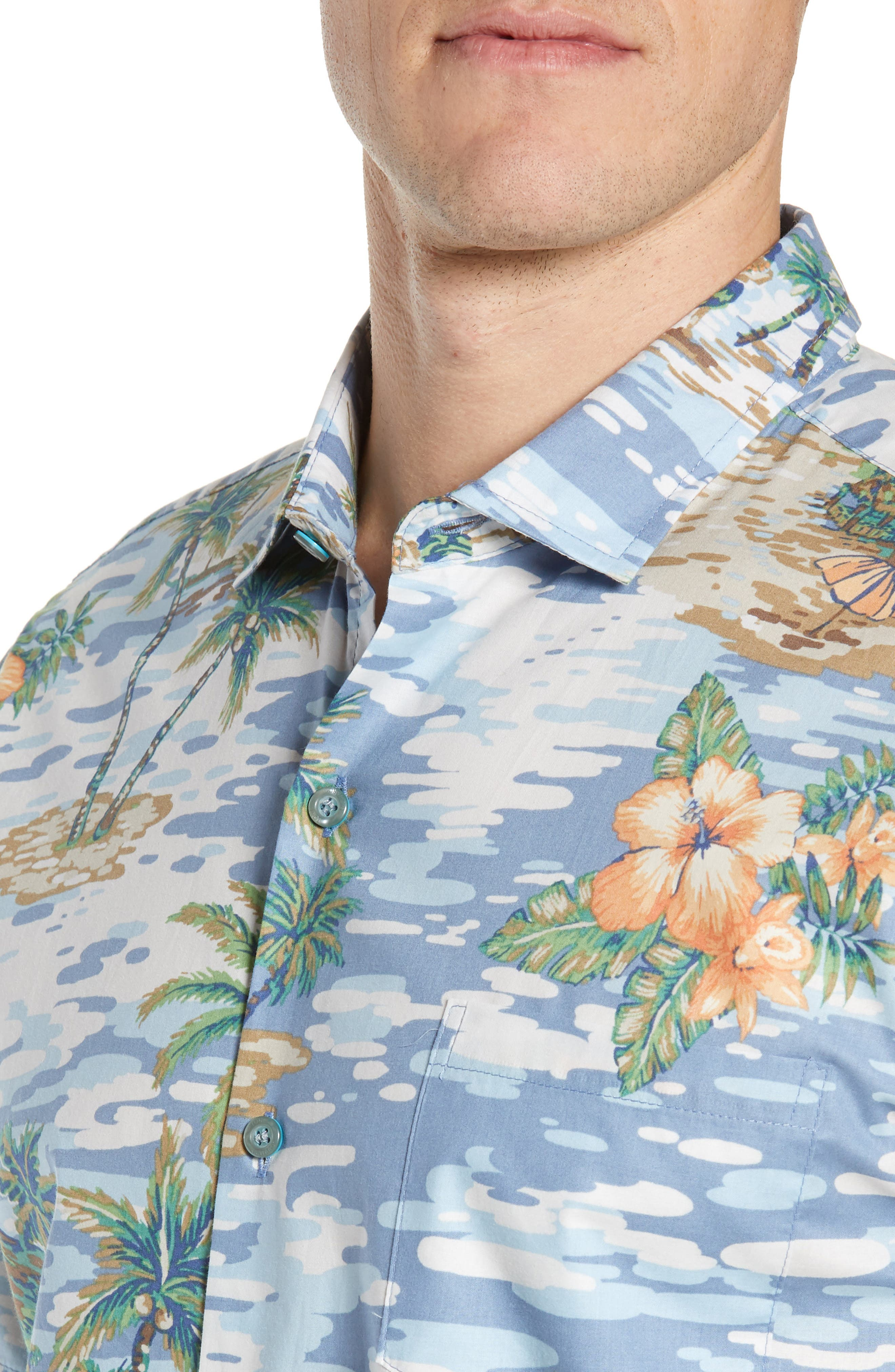TORI RICHARD, Archipelago Regular Fit Sport Shirt, Alternate thumbnail 2, color, 061