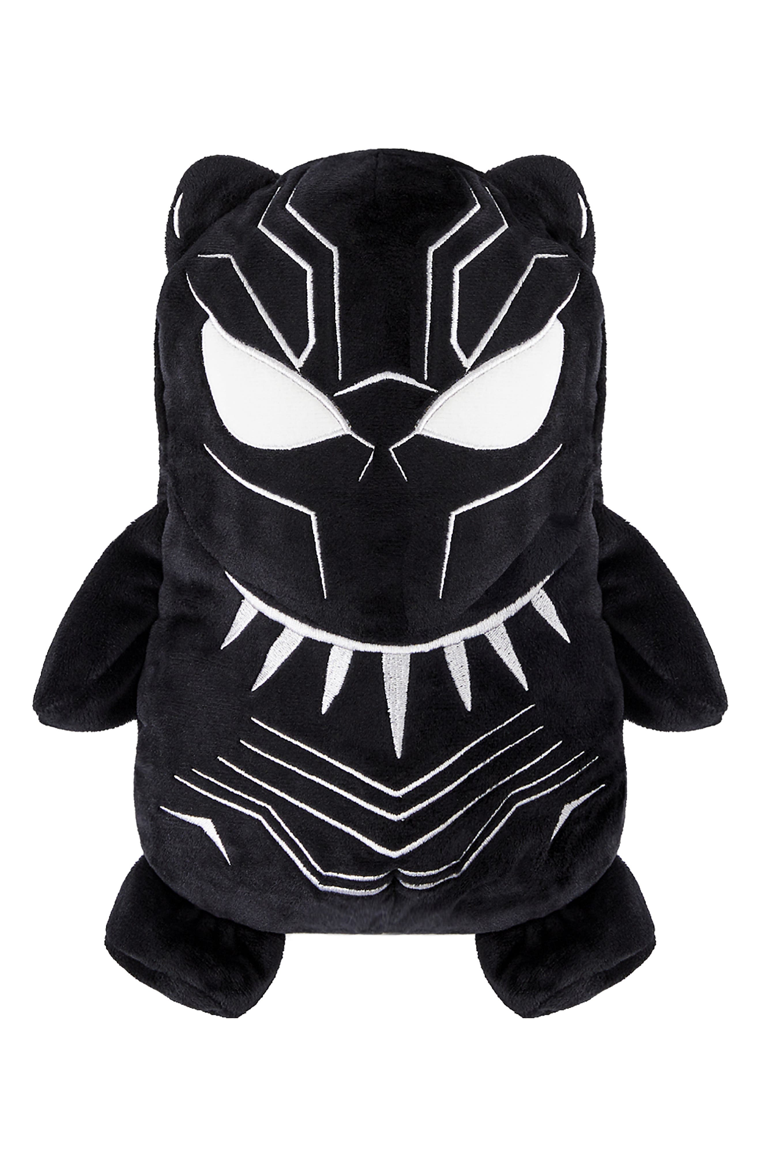 CUBCOATS, Marvel<sup>®</sup> 2018 Black Panther<sup>®</sup> 2-in-1 Stuffed Animal Hoodie, Main thumbnail 1, color, BLACK