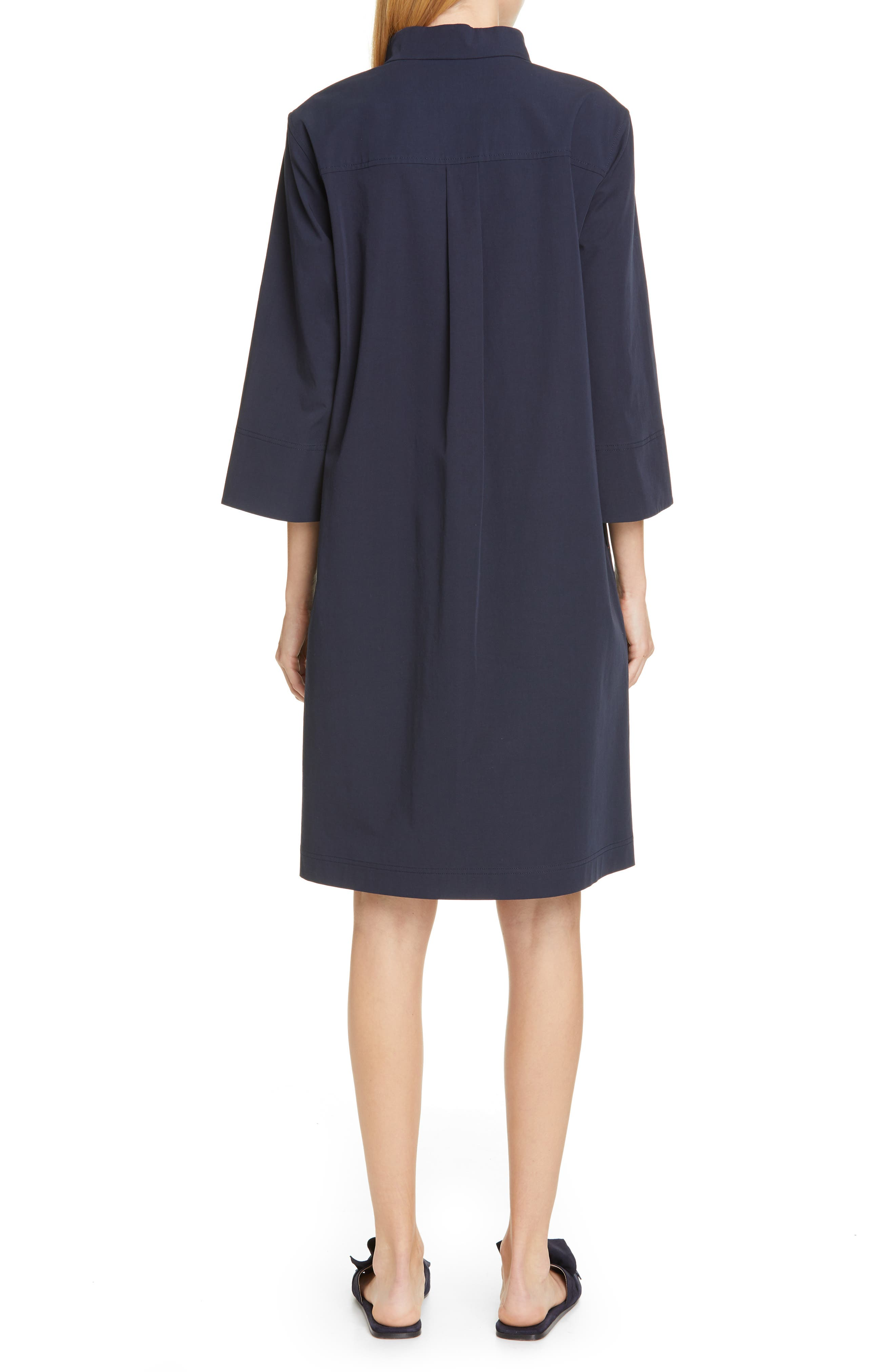 LAFAYETTE 148 NEW YORK, Mitchell Shift Dress, Alternate thumbnail 2, color, INK