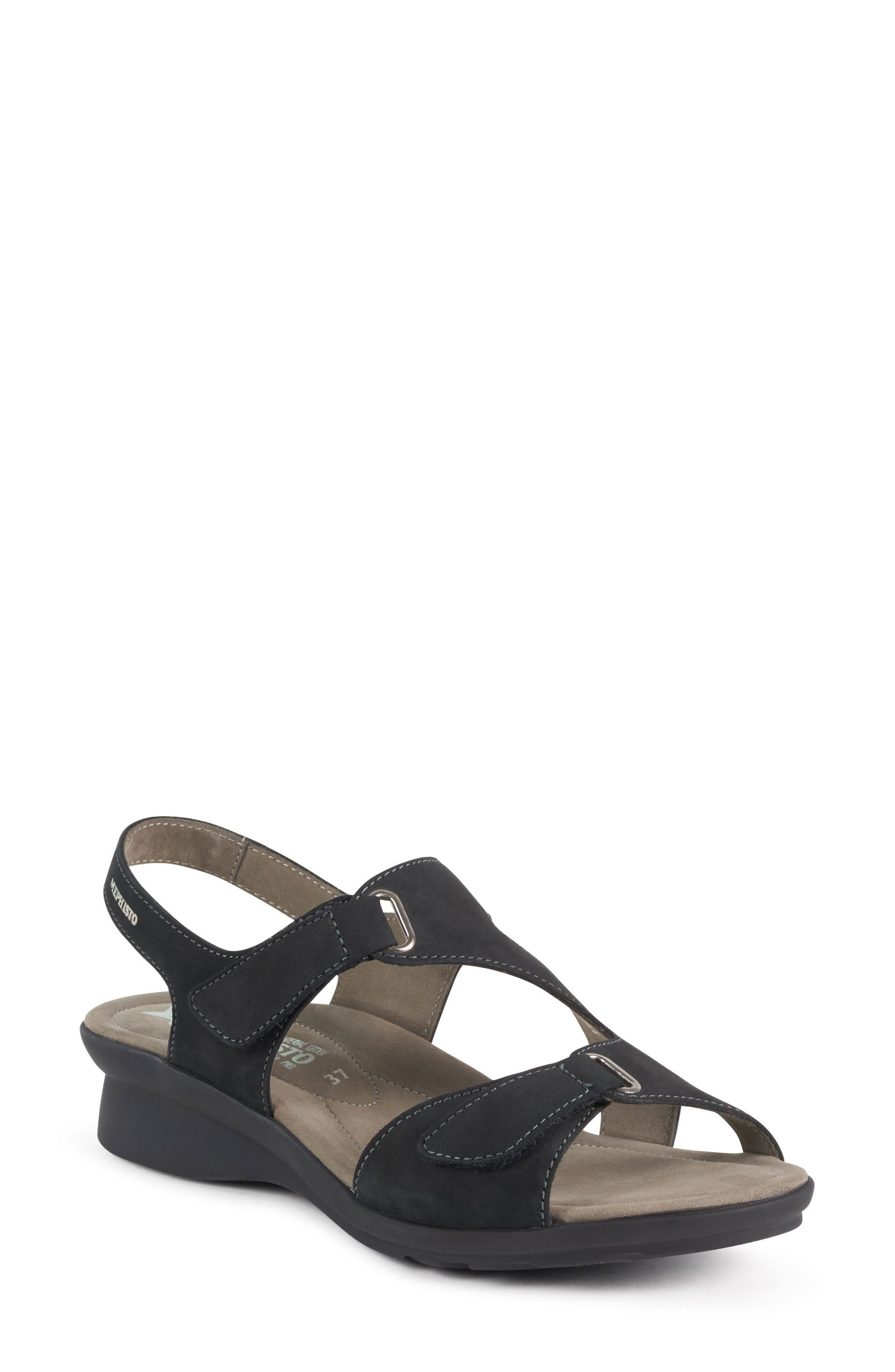 MEPHISTO, 'Paris' Slingback Sandal, Alternate thumbnail 2, color, BLACK
