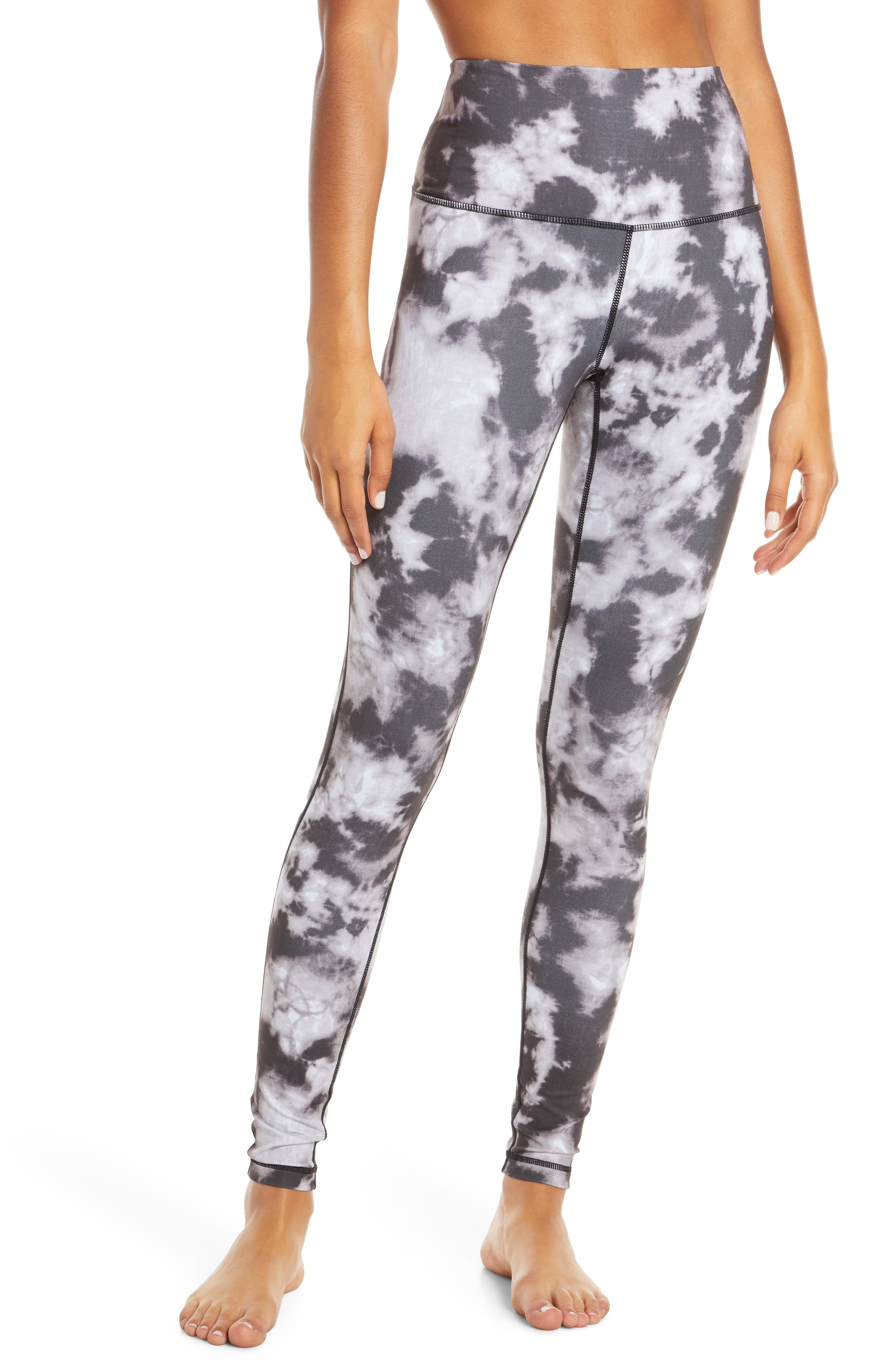 ZELLA, Live In High Waist Leggings, Main thumbnail 1, color, BLACK SUN BLEACH PRINT
