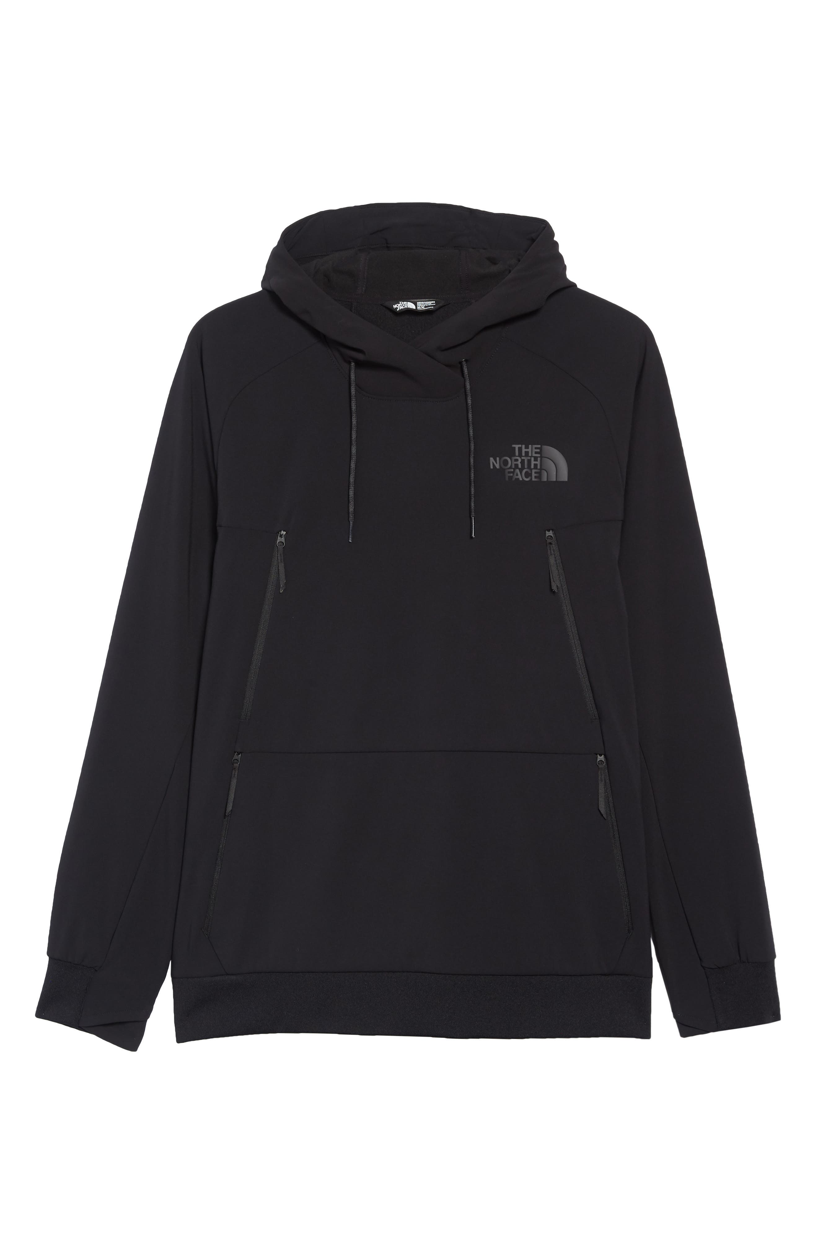 THE NORTH FACE, Tekno Pullover Hoodie, Alternate thumbnail 7, color, 001
