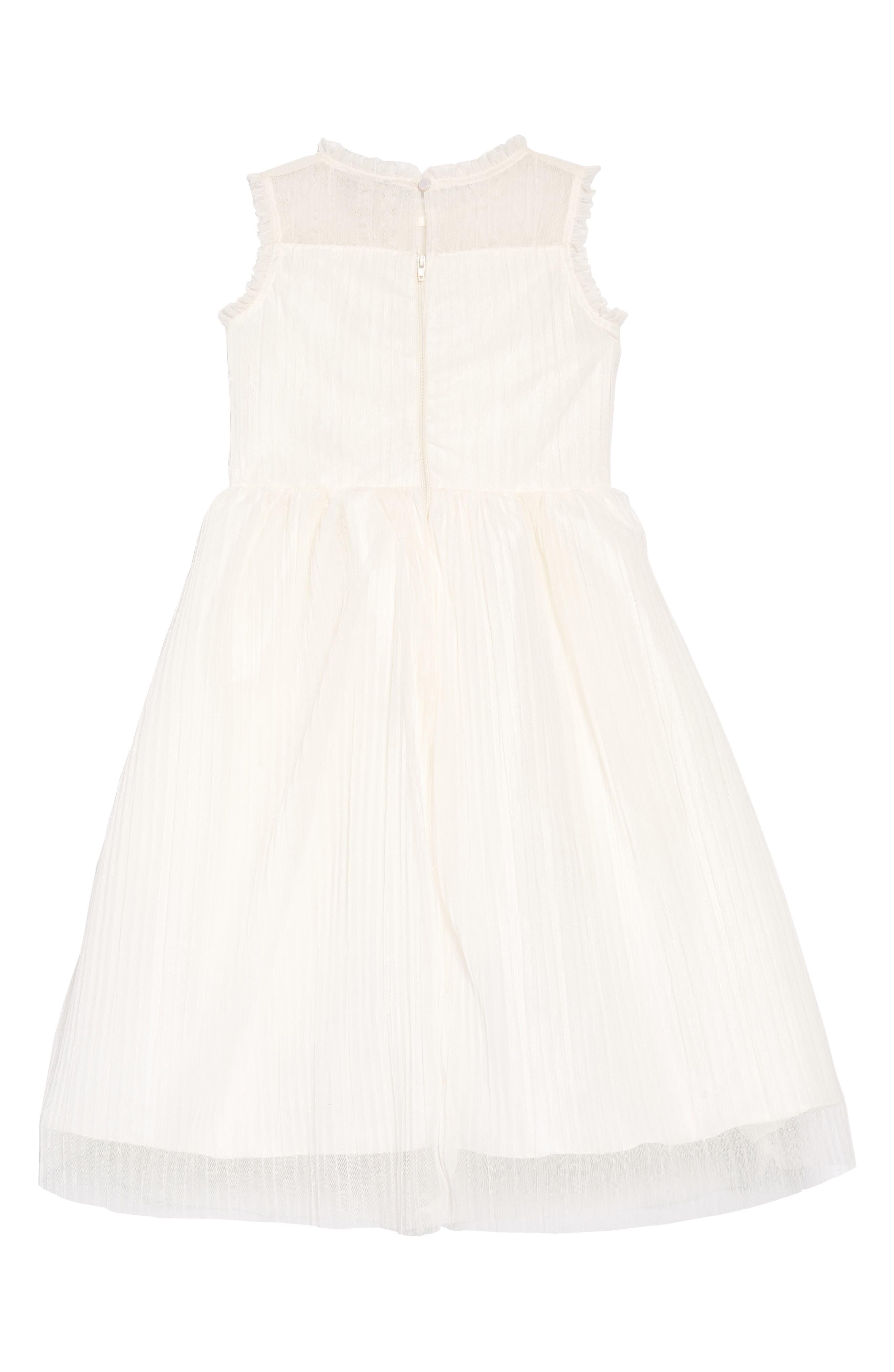 AVA & YELLY, Plissé Mesh Dress, Alternate thumbnail 2, color, IVORY
