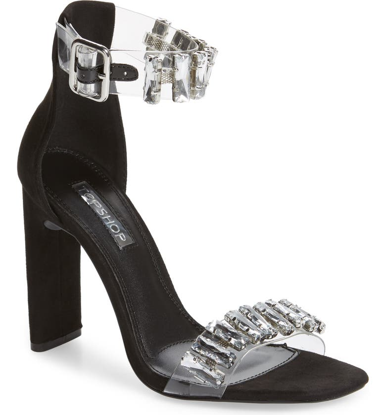 8d5f3be78b8 Topshop Rogue Crystal Embellished Clear Sandal (Women)