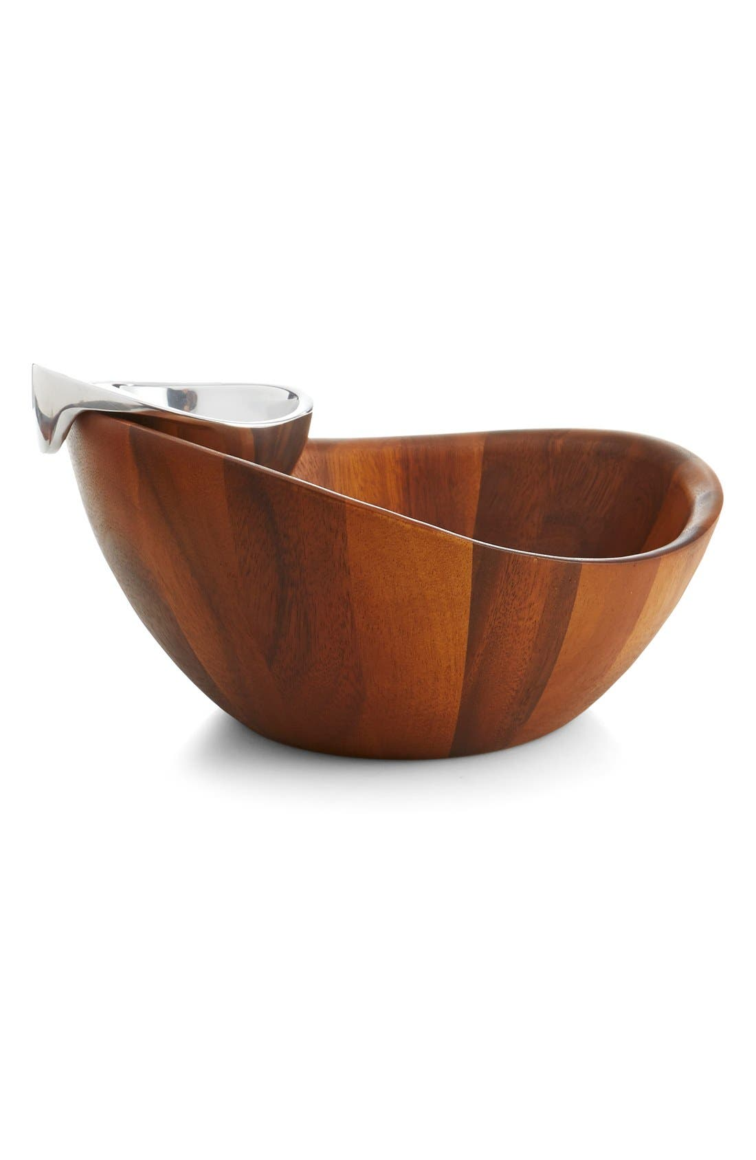 NAMBÉ, Harmony Chip & Dip Bowl, Alternate thumbnail 3, color, BROWN