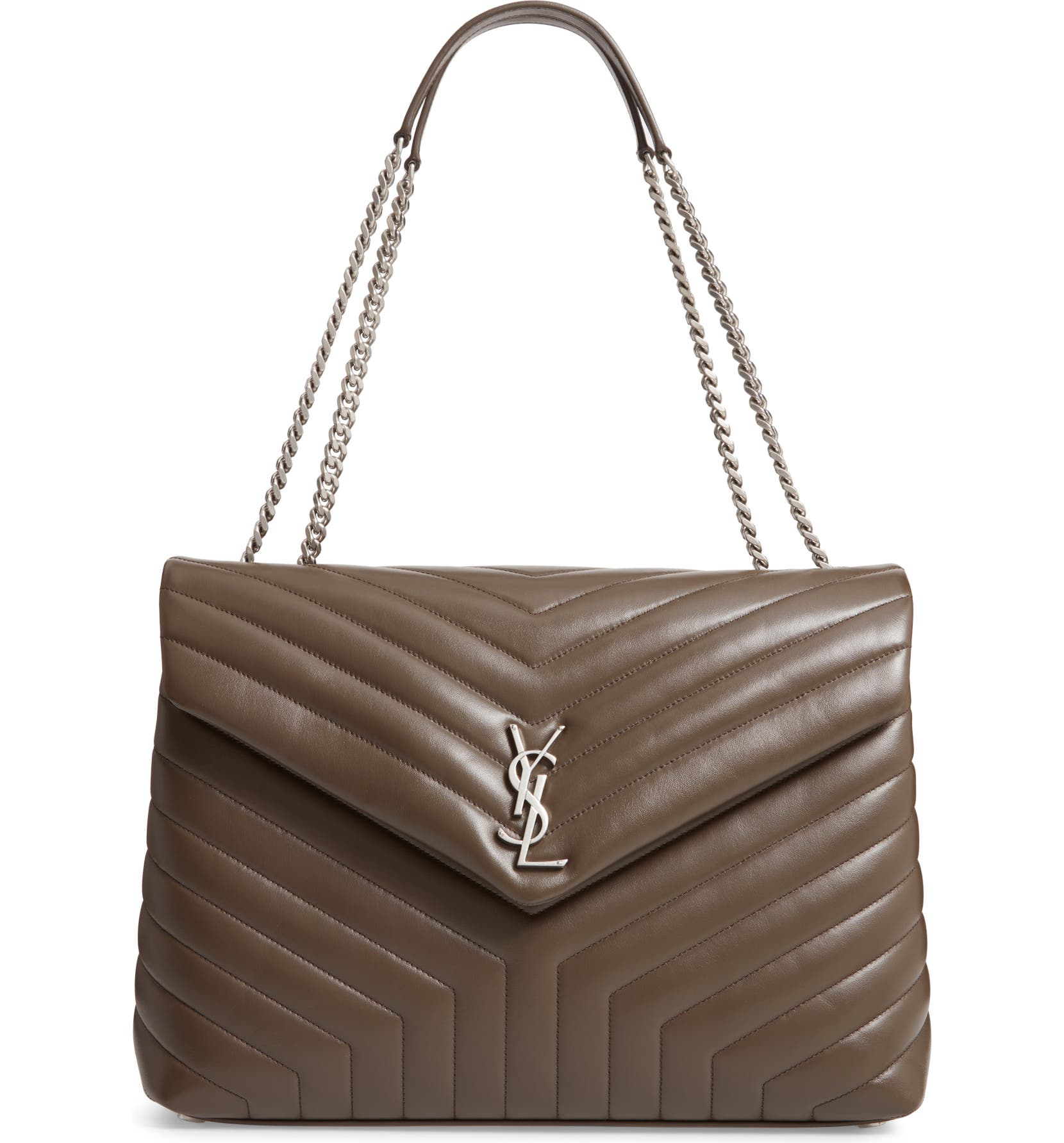 c52063bf093 Saint Laurent Large Loulou Matelassé Leather Shoulder Bag