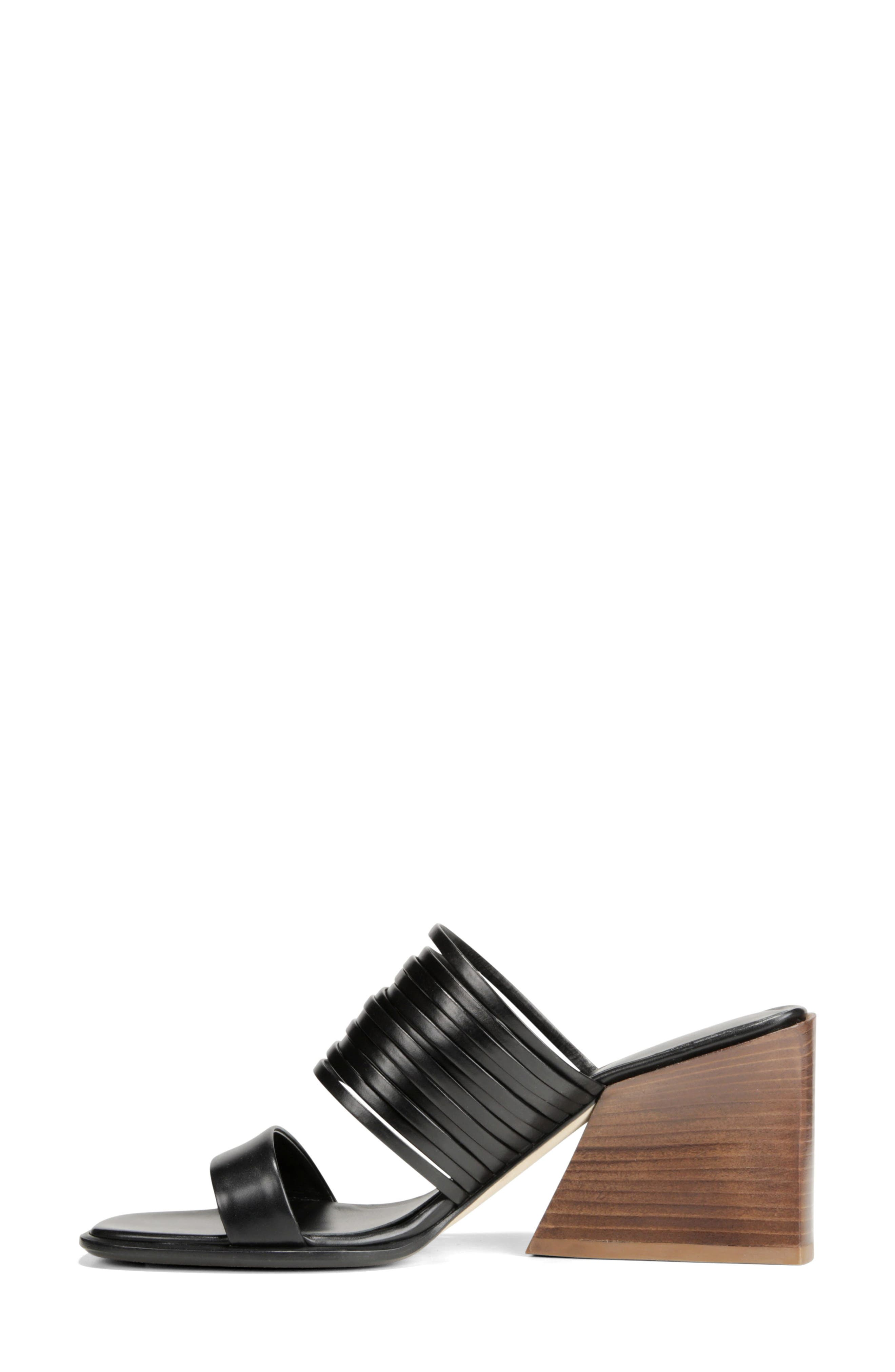 VIA SPIGA, Mariam Slide Sandal, Alternate thumbnail 8, color, BLACK