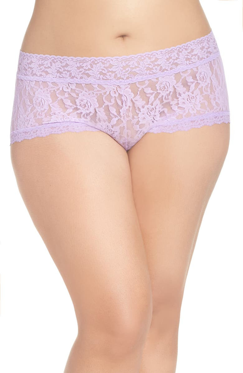 49041a3dd Hanky Panky Stretch Lace Boyshorts (Plus Size)
