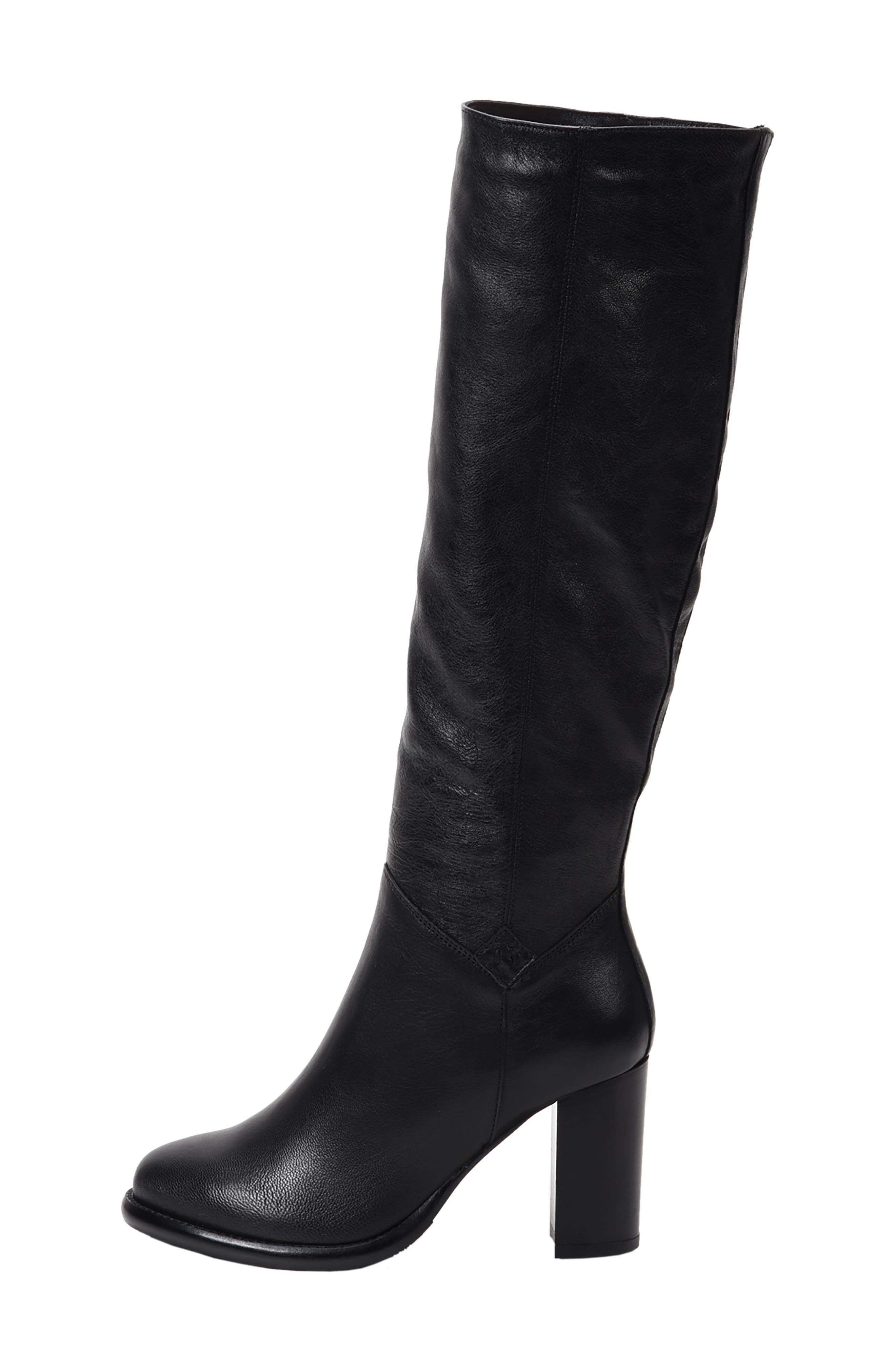 ROSS & SNOW, Michela SP Waterproof Genuine Shearling Lined Boot, Alternate thumbnail 2, color, BLACK METALLIC LEATHER
