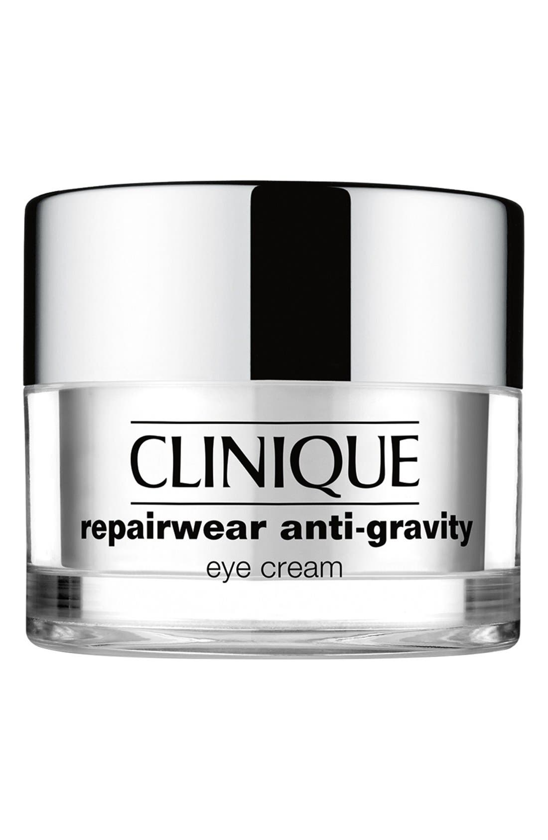 CLINIQUE, Repairwear Anti-Gravity Eye Cream, Main thumbnail 1, color, NO COLOR