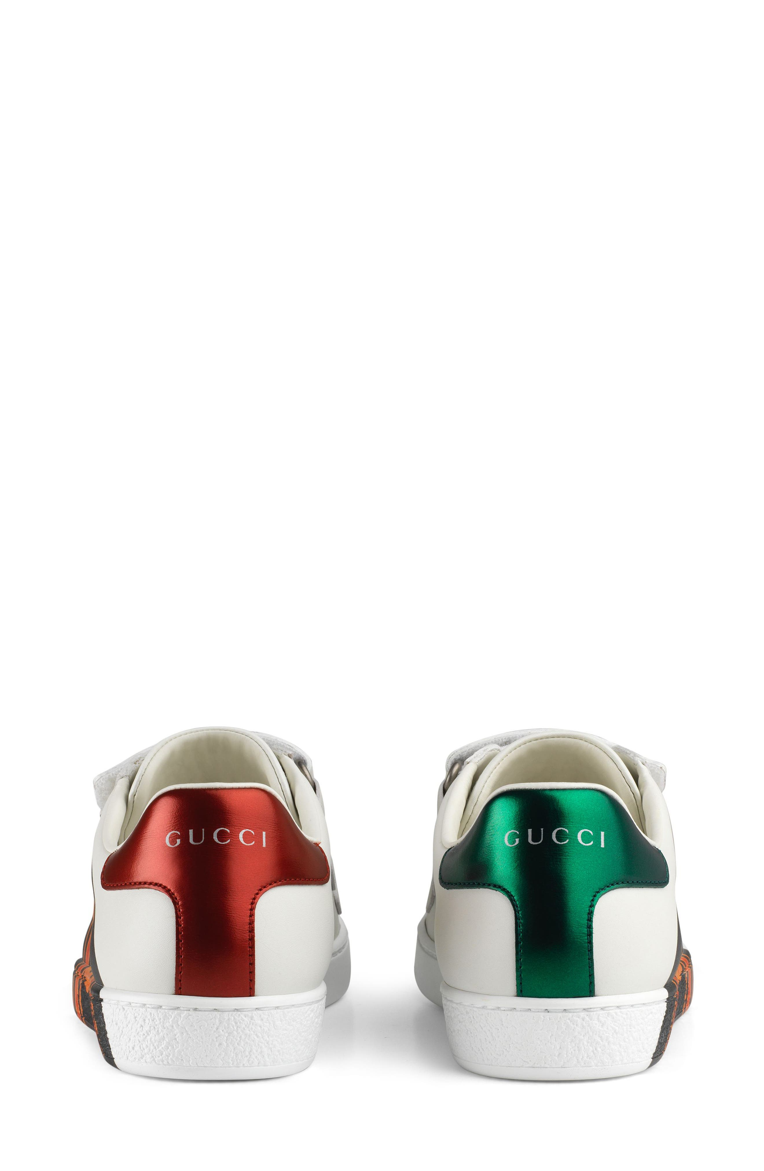 GUCCI, New Ace Sneaker, Alternate thumbnail 7, color, WHITE
